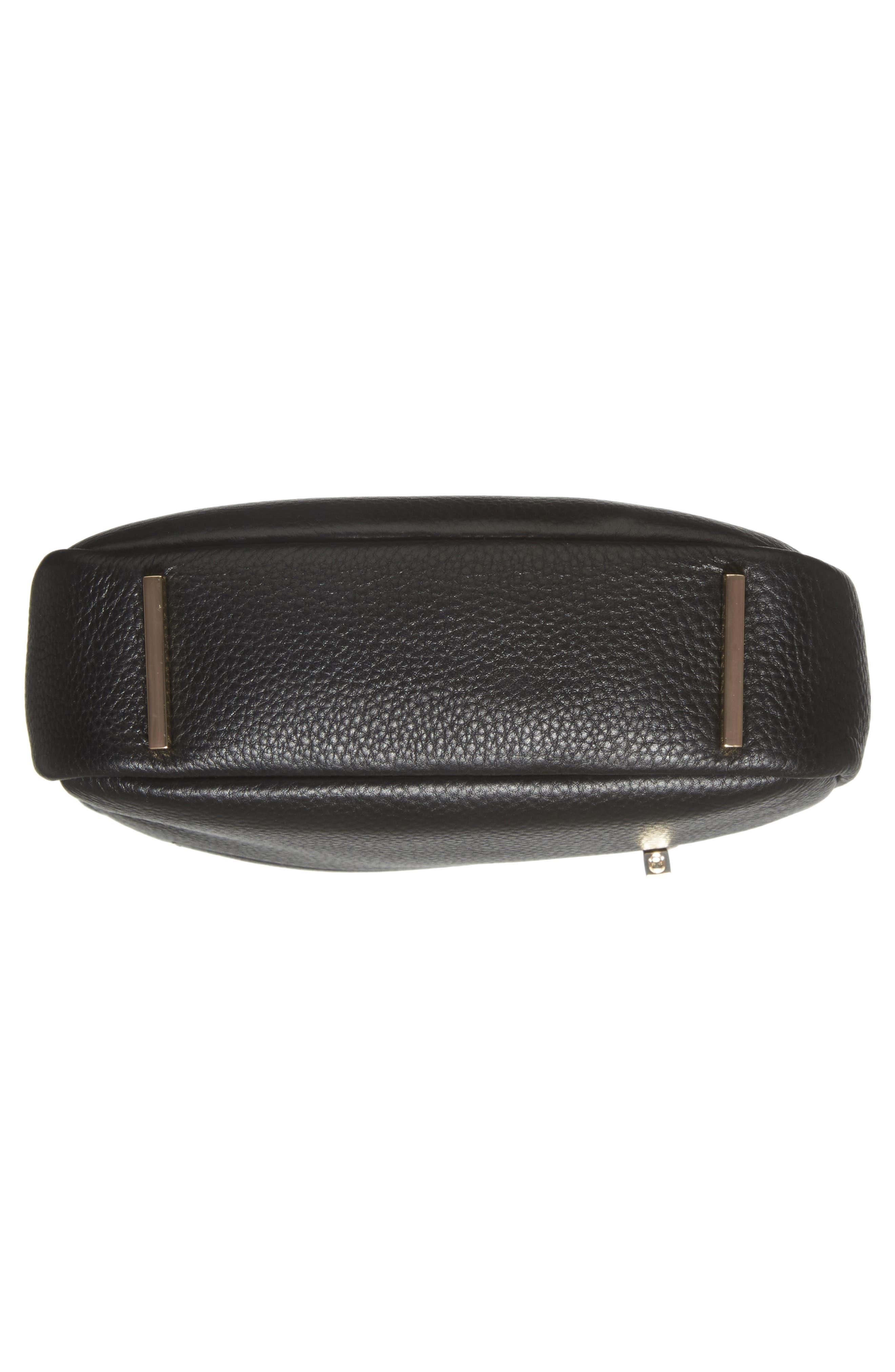 Céline Dion Adagio Leather Camera Crossbody Bag,                             Alternate thumbnail 6, color,                             001