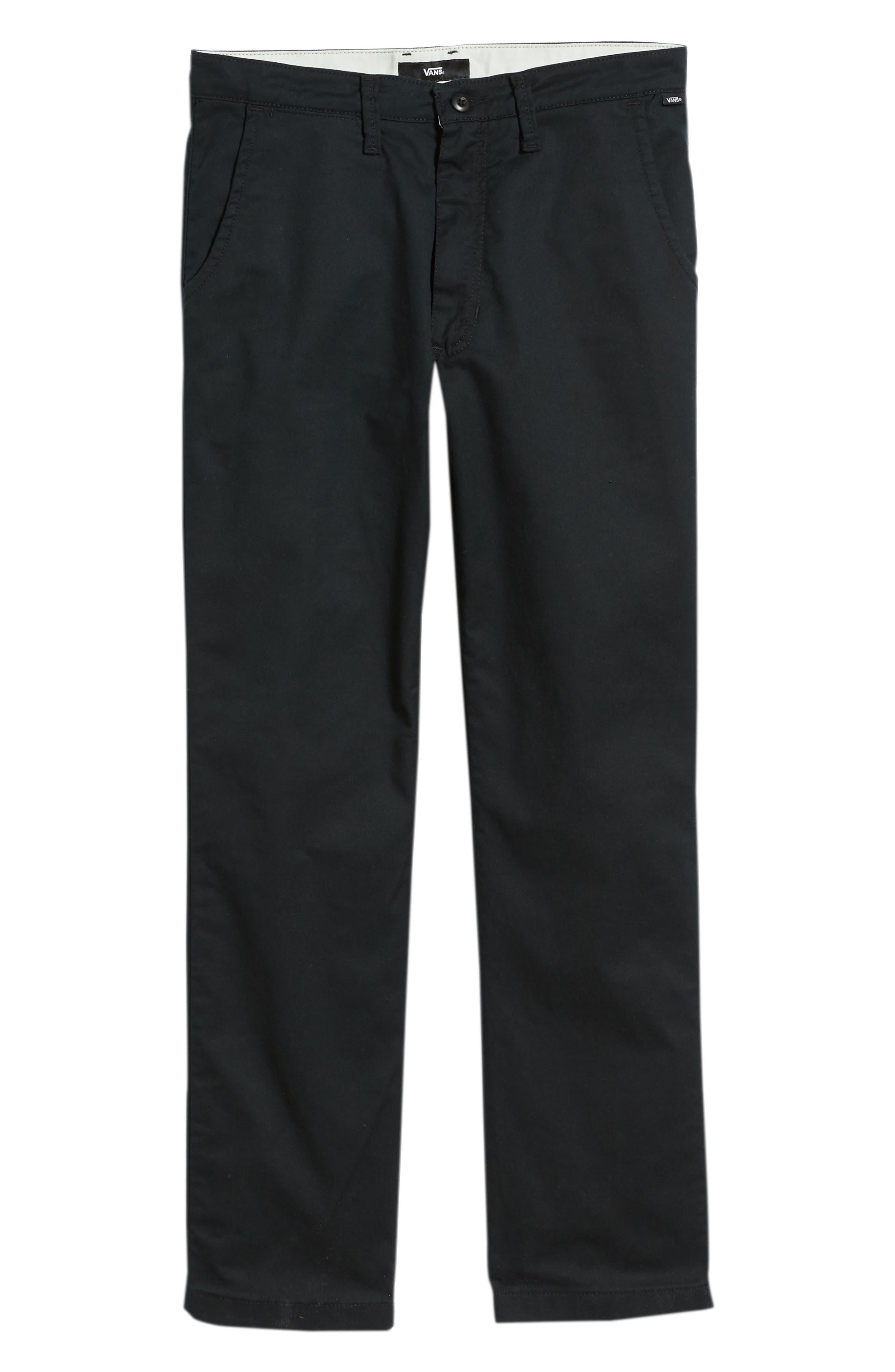 Authentic Chino Pro Pants,                             Alternate thumbnail 6, color,                             BLACK
