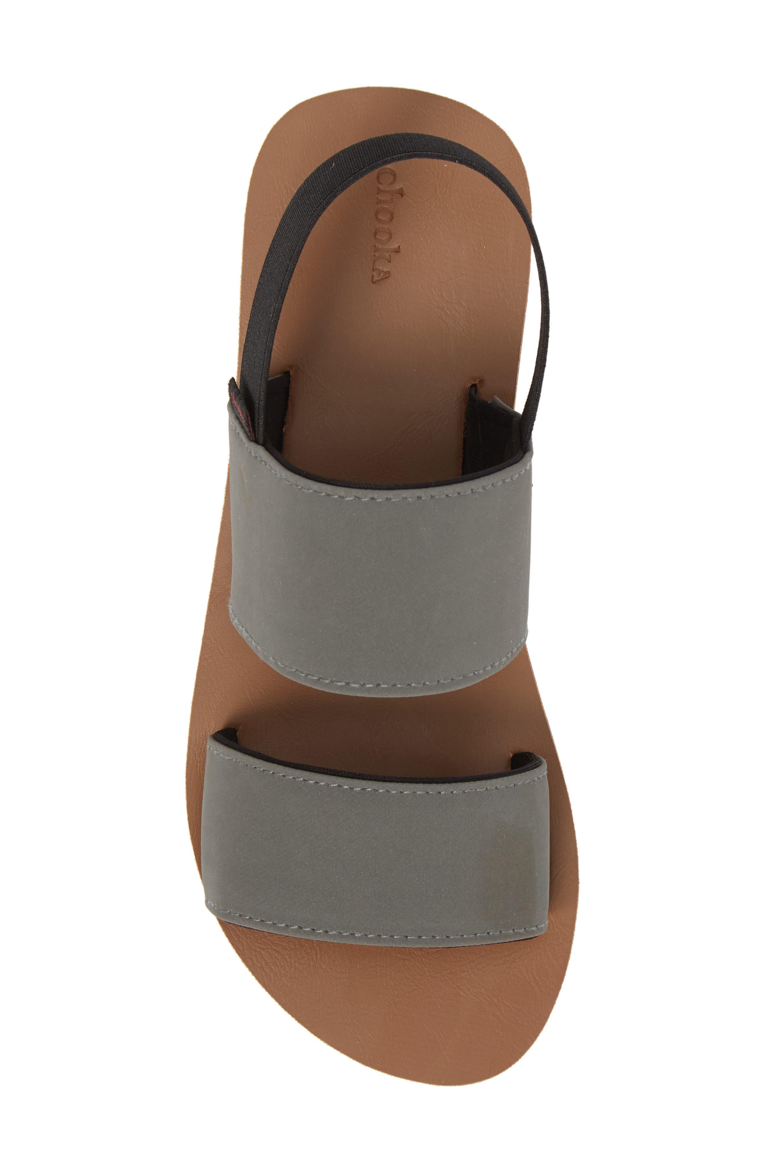 Flatform Sandal,                             Alternate thumbnail 5, color,                             GREY