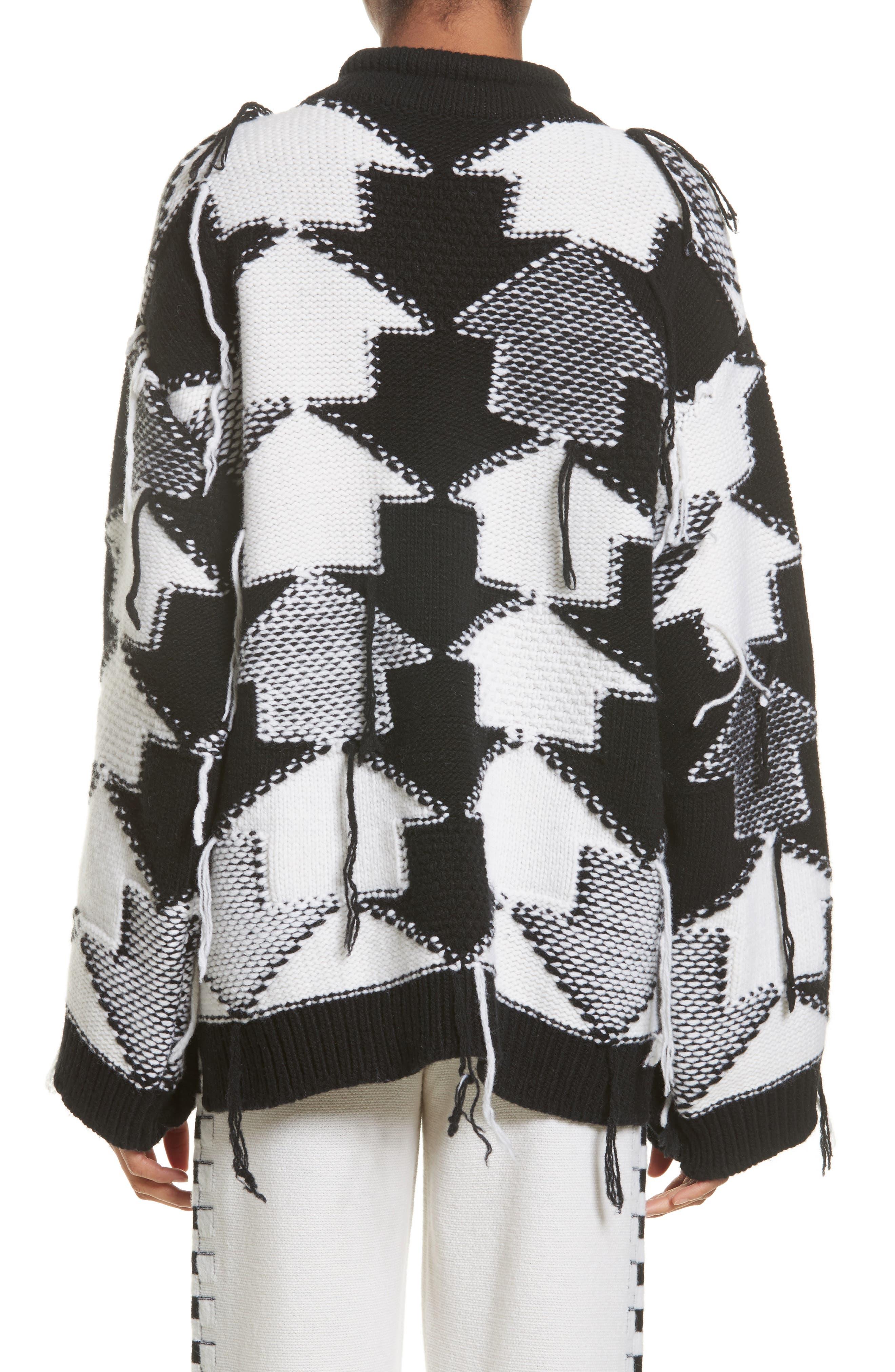 Arrow Intarsia Wool Sweater,                             Alternate thumbnail 2, color,                             001