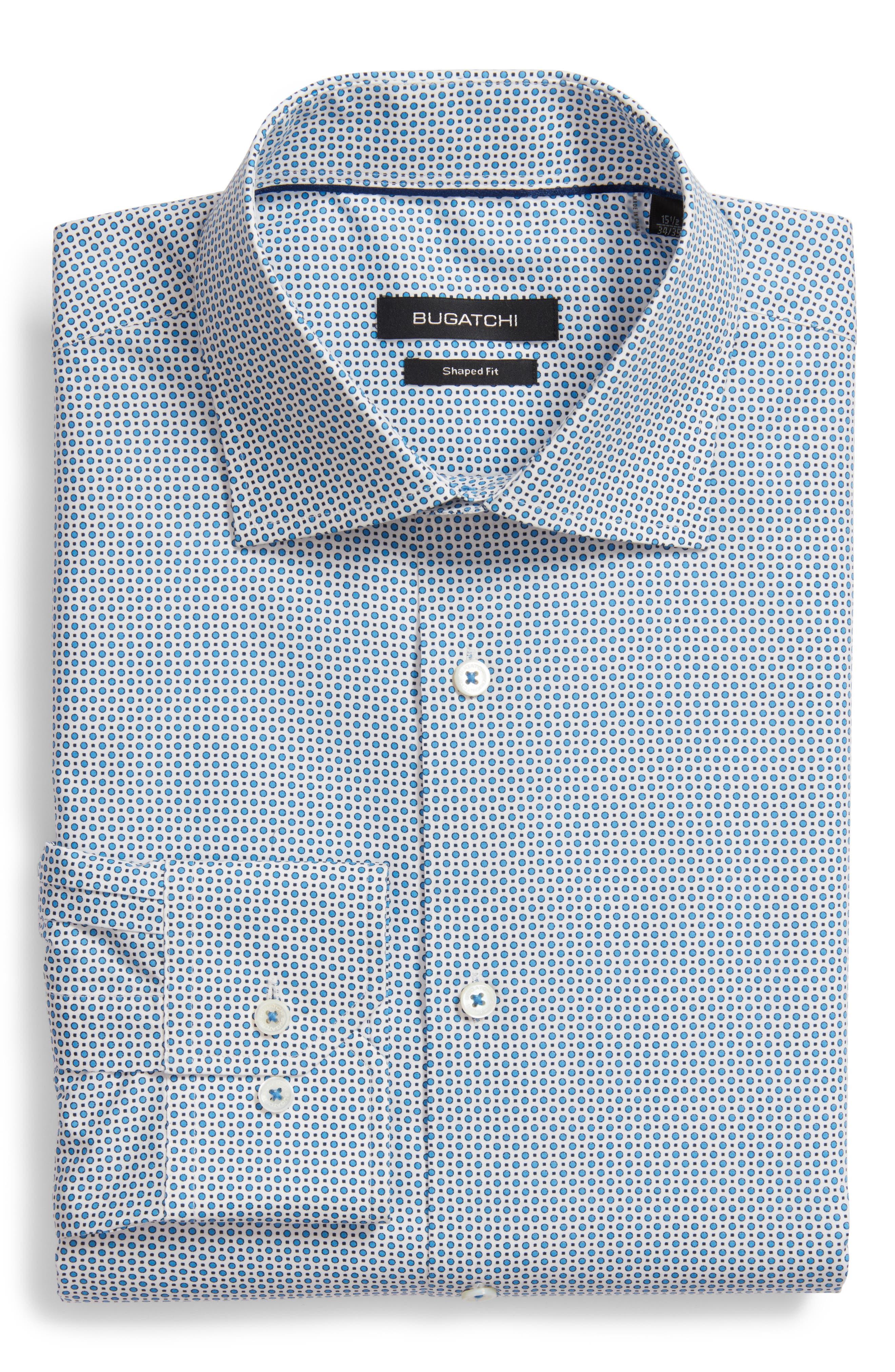 Trim Fit Dot Dress Shirt,                         Main,                         color,