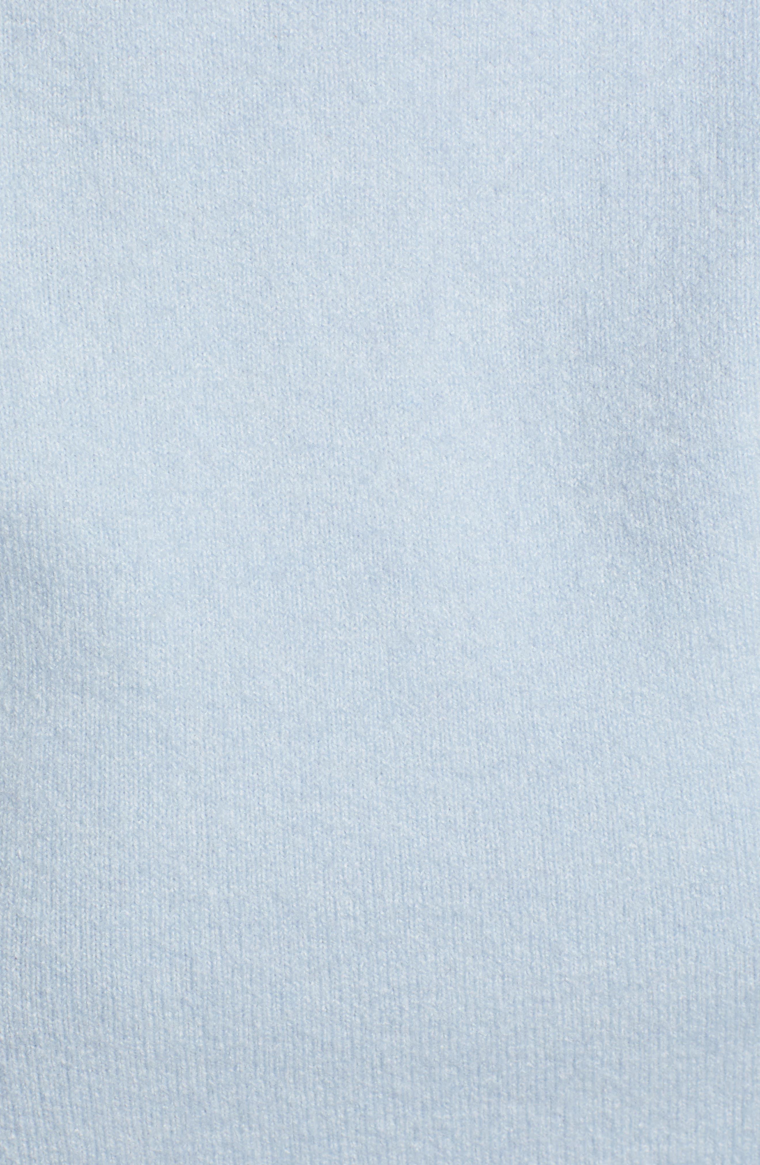 Convertible Neck Sweater,                             Alternate thumbnail 5, color,                             BLUE FOG