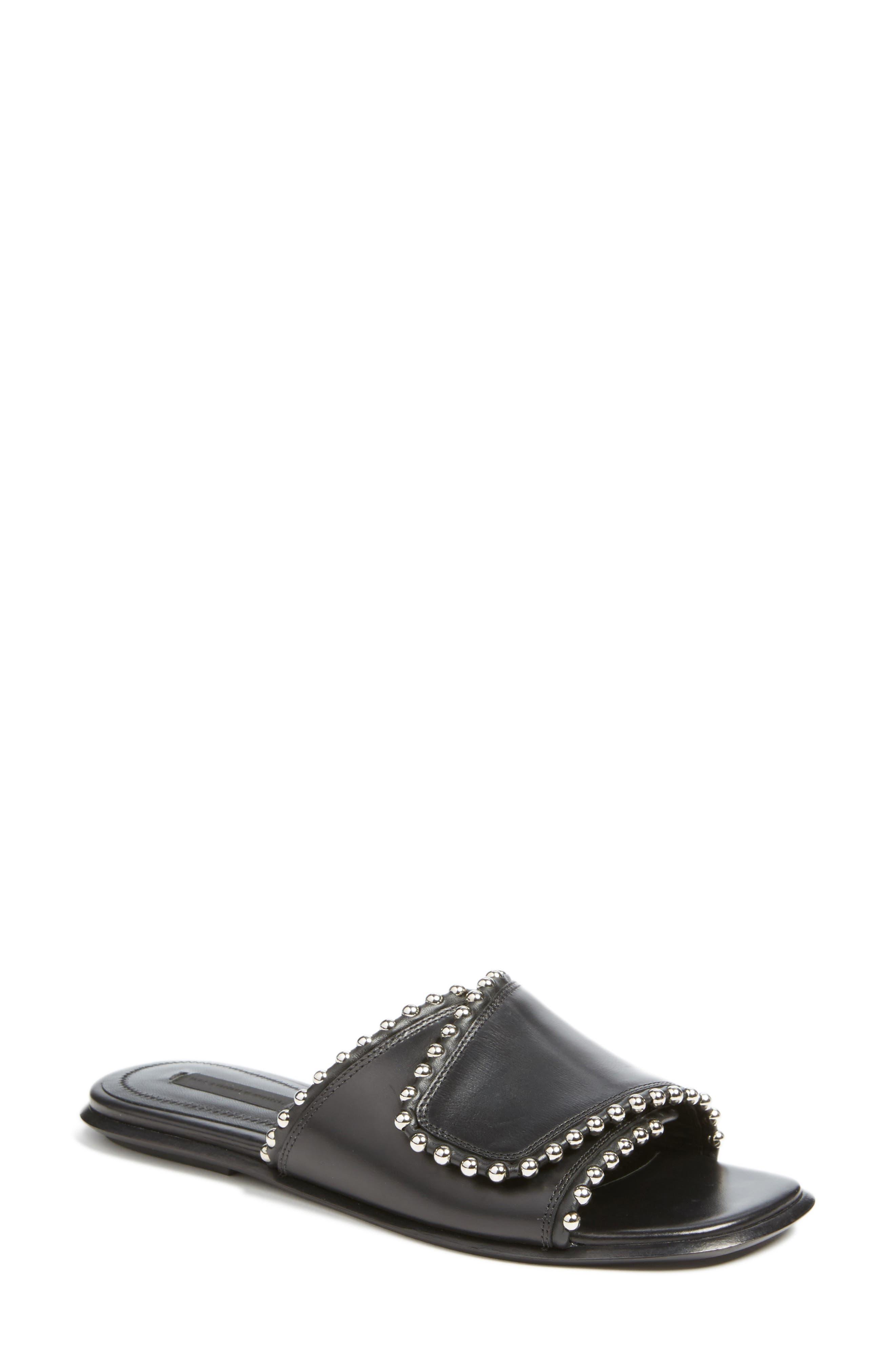 ALEXANDER WANG Leidy Slide Sandal, Main, color, 001