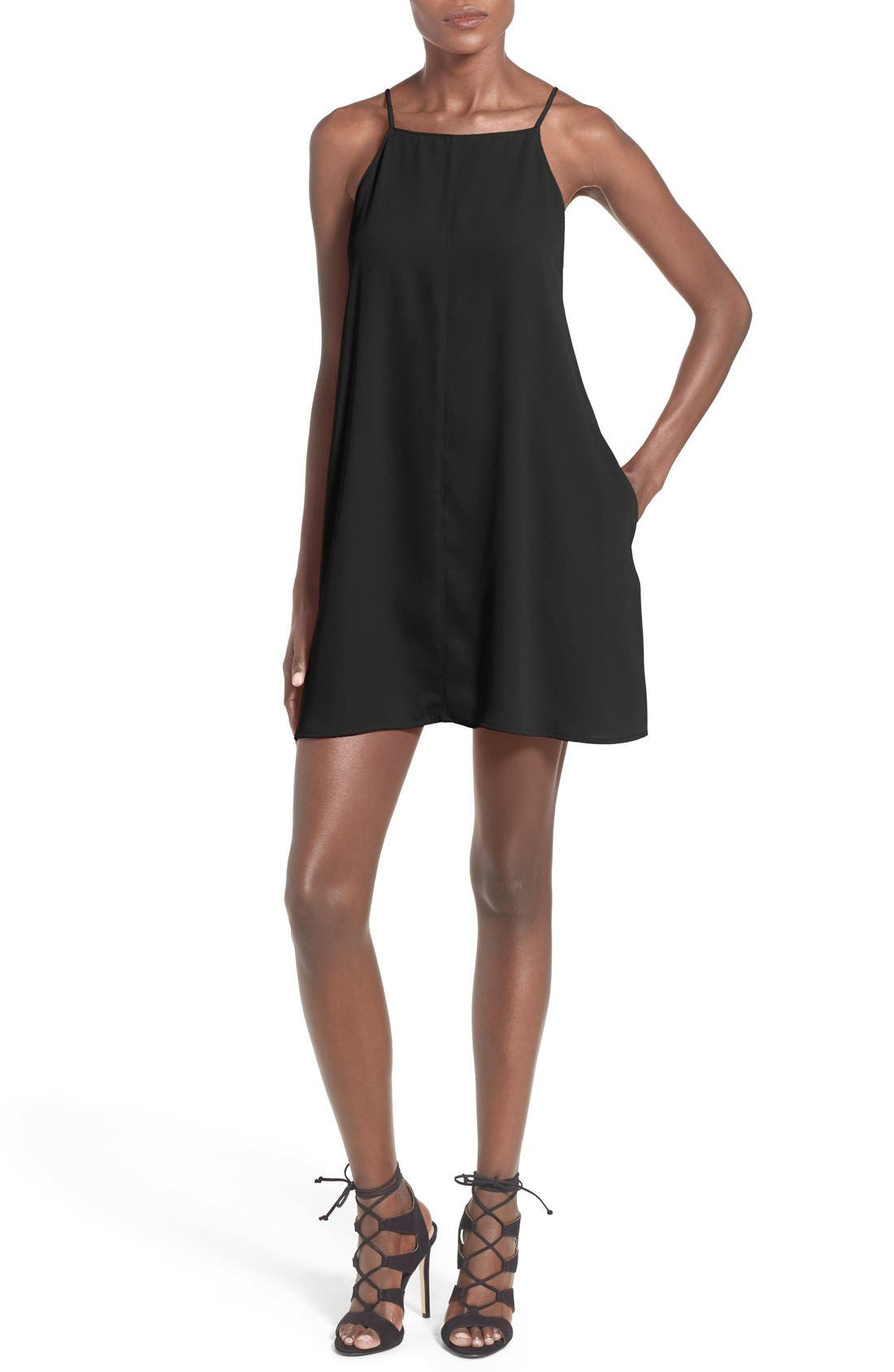 --- Square Neck Shift Dress, Main, color, 001