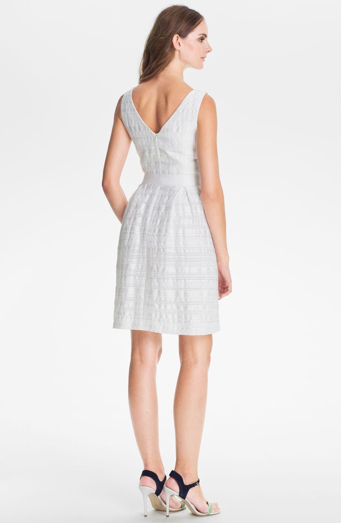'Fru Fru' Stripe Fit & Flare Dress,                             Alternate thumbnail 2, color,                             131