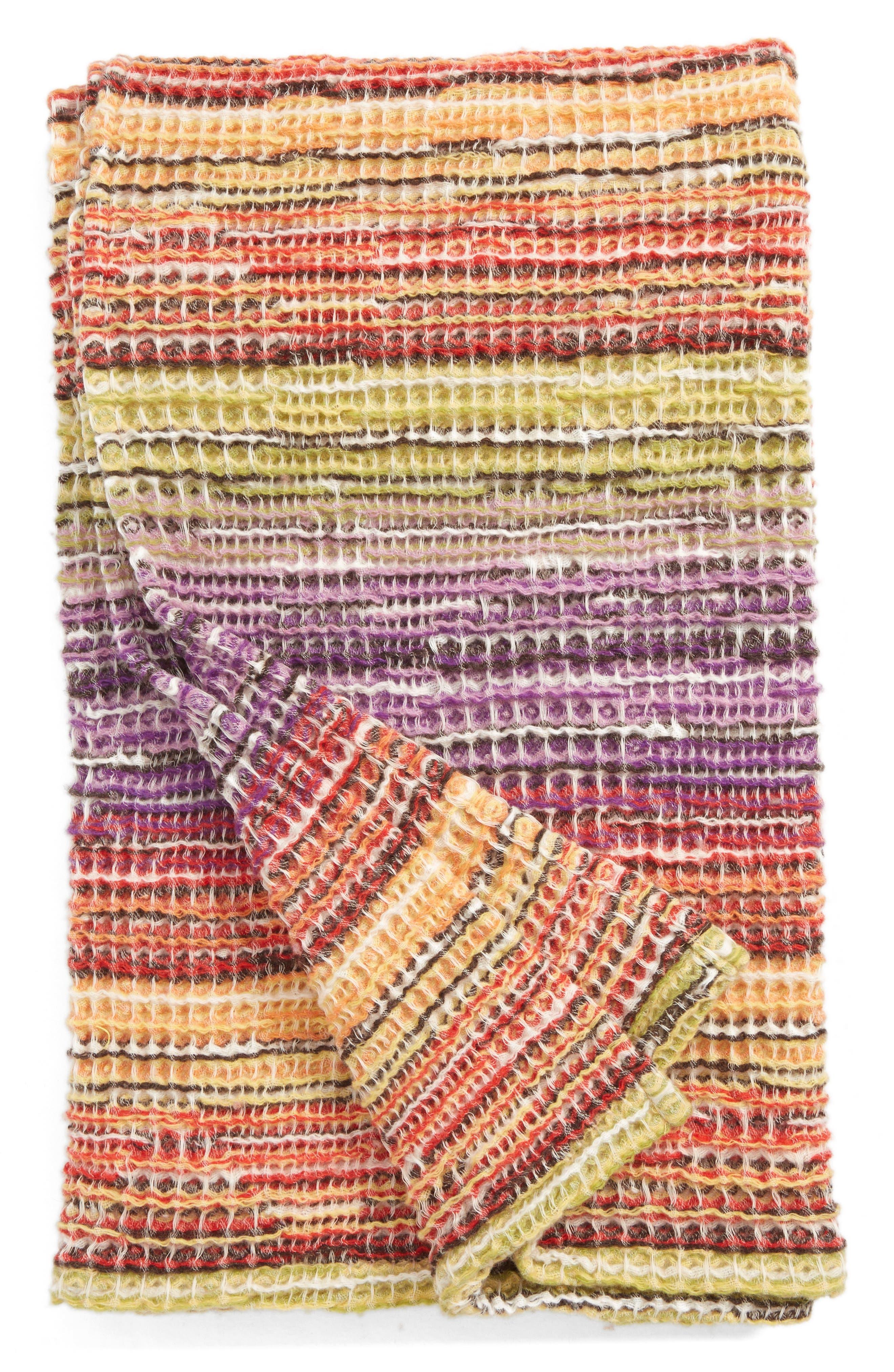 MISSONI Tancredi Throw Blanket, Main, color, 500