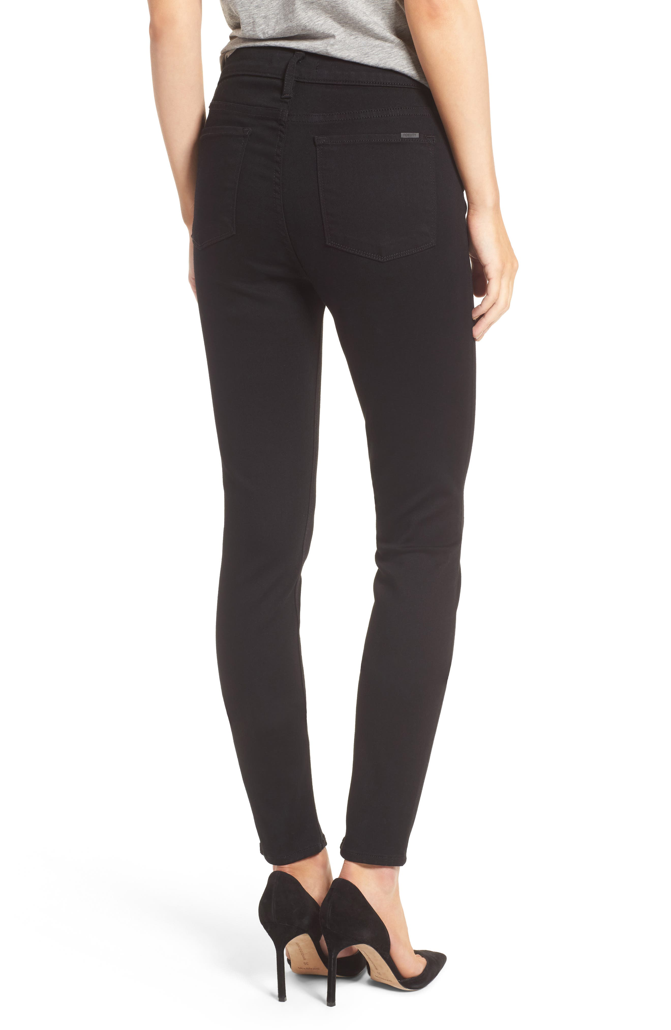 Gwen High Rise Skinny Jeans,                             Alternate thumbnail 5, color,                             001