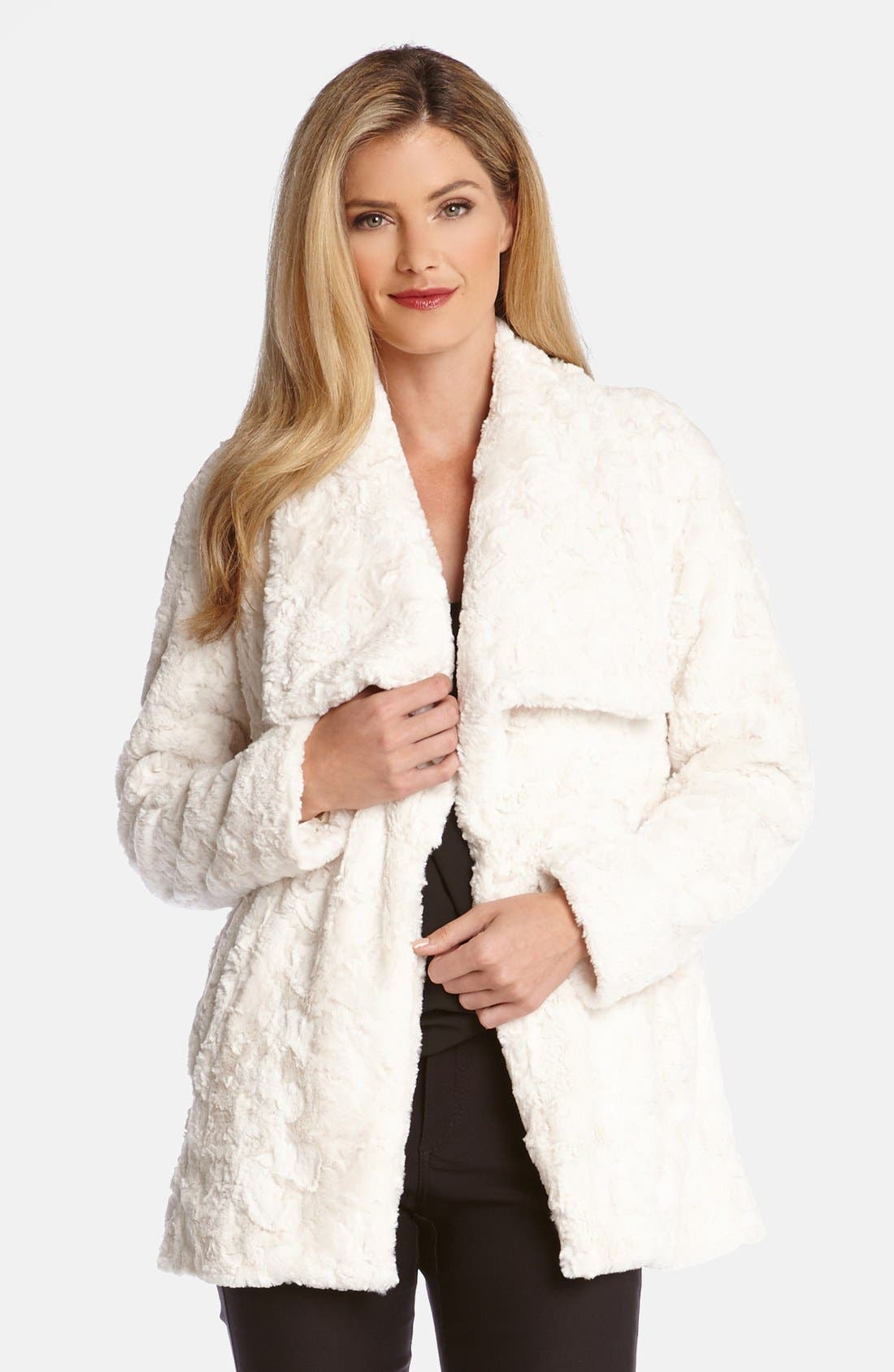 Faux Fur Jacket,                             Main thumbnail 1, color,                             101
