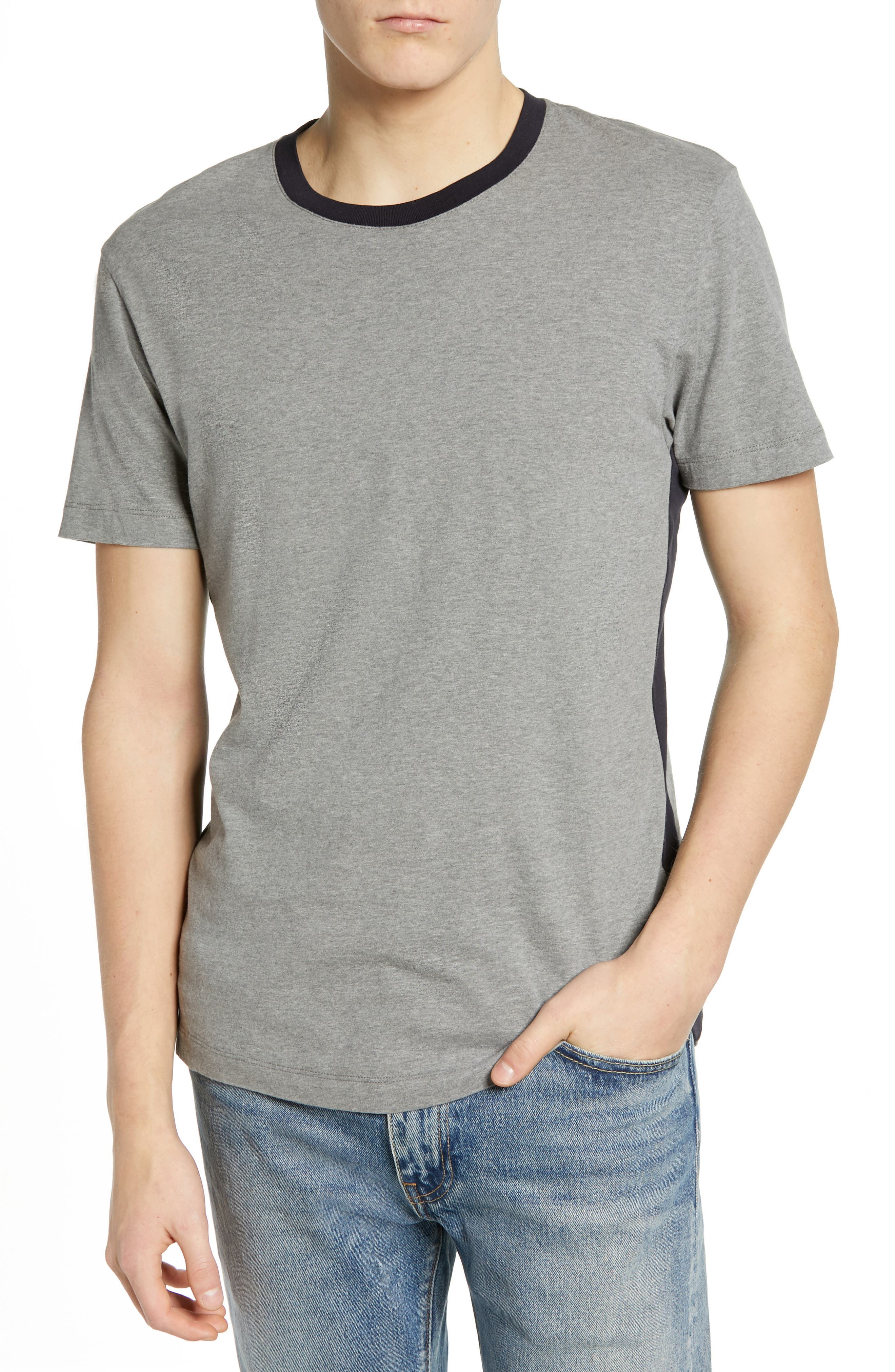French Connection Block Side Panel T-Shirt, Blue