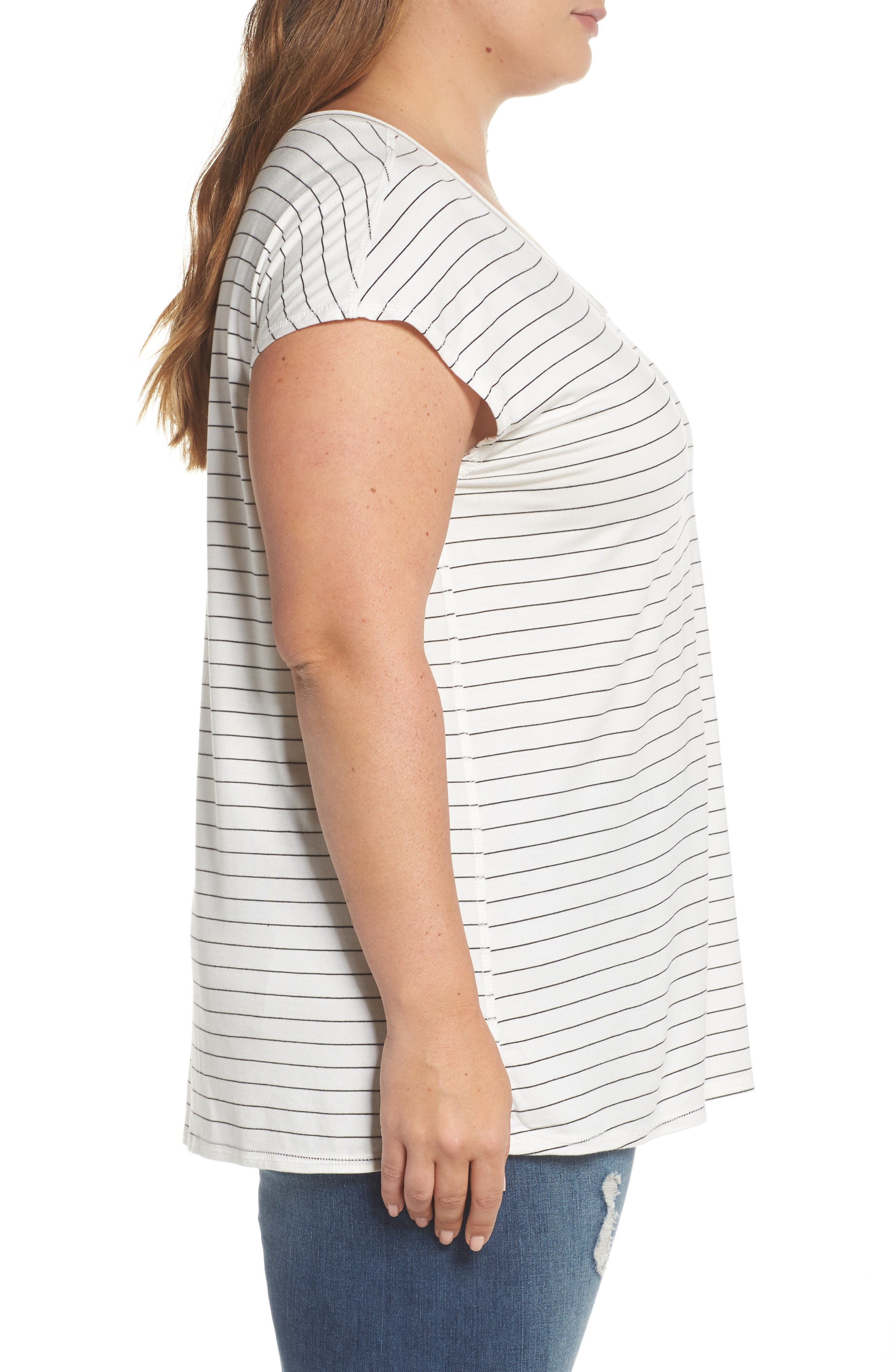 Off-Duty Stretch Knit Top,                             Alternate thumbnail 3, color,                             001