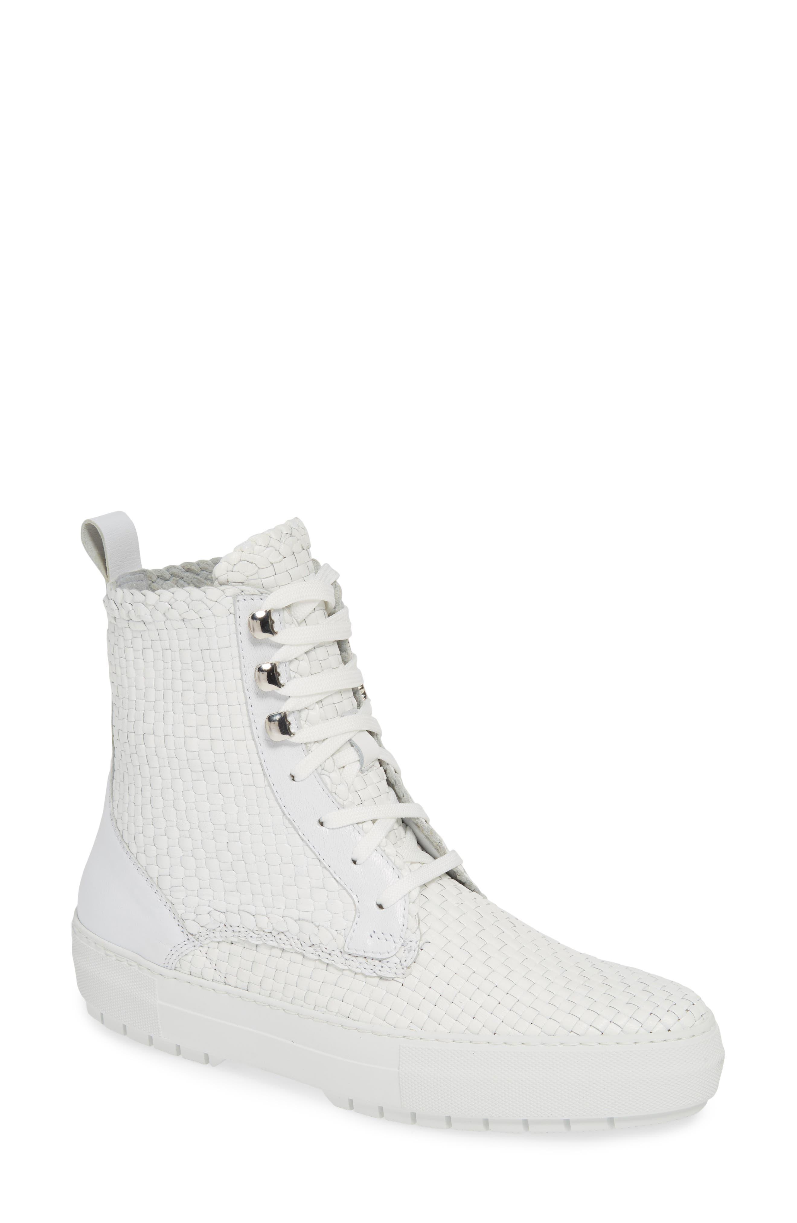 Aquatalia Tess Woven Boot, White