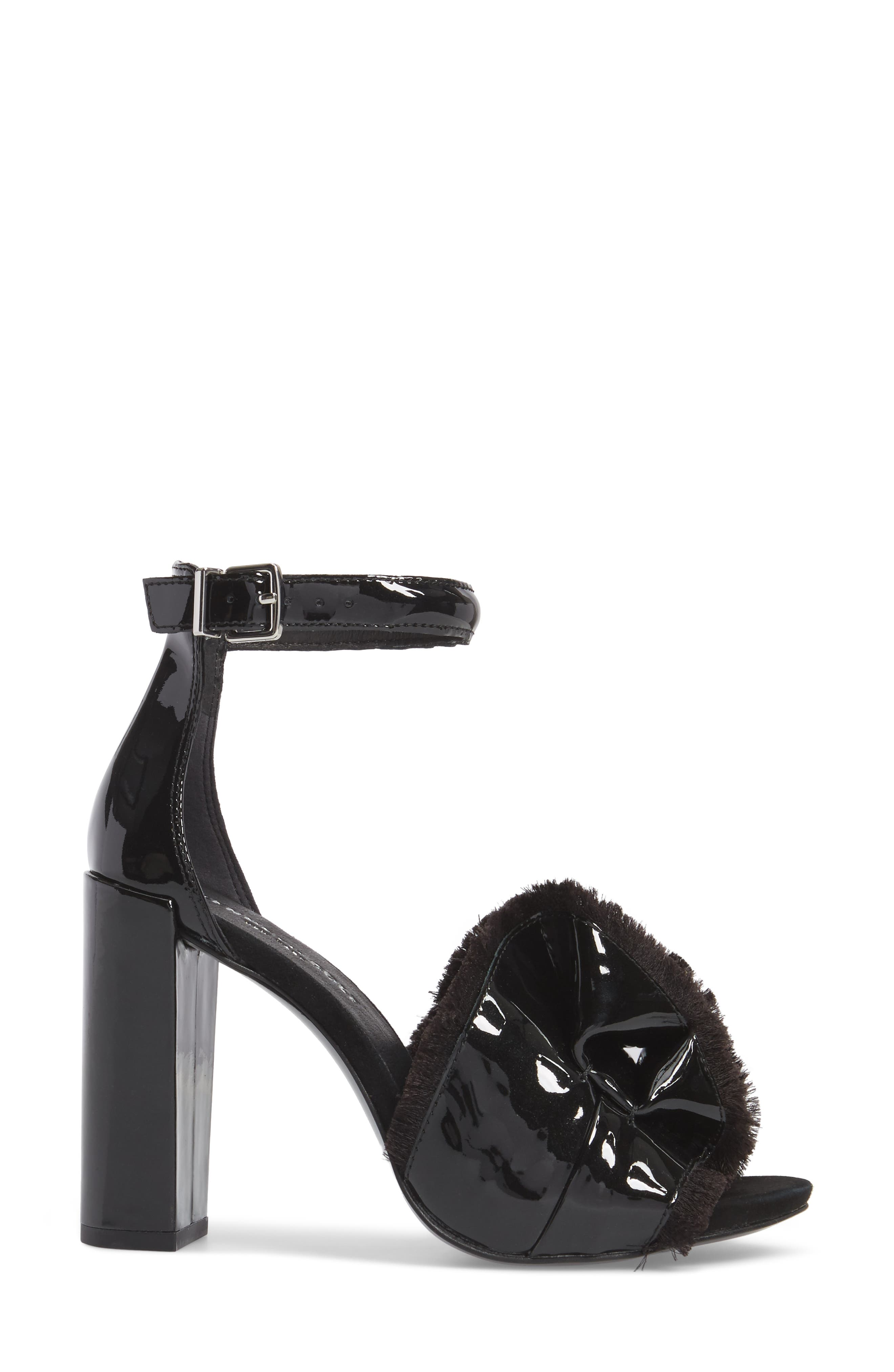 Dayna Ankle Strap Sandal,                             Alternate thumbnail 3, color,                             001