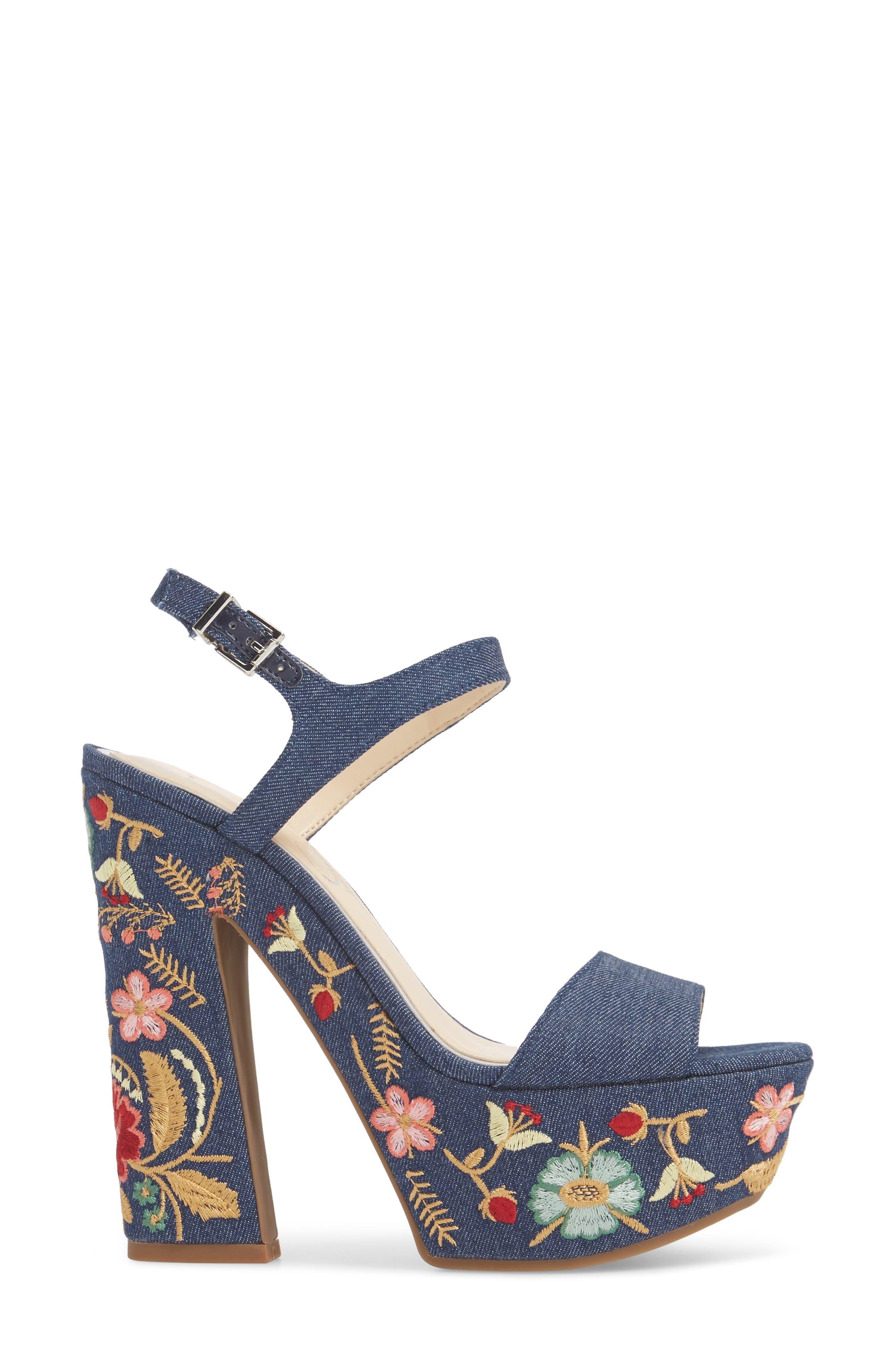 JESSICA SIMPSON,                             Divella Embroidered Platform Sandal,                             Alternate thumbnail 3, color,                             410