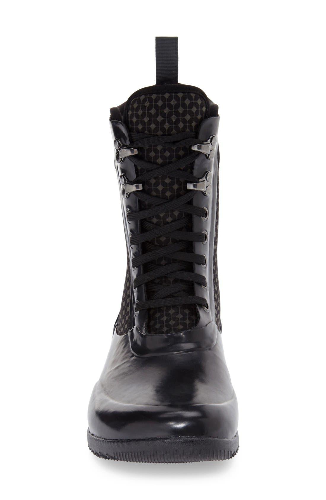 'Sidney Cravat' Lace-Up Waterproof Boot,                             Alternate thumbnail 3, color,                             009