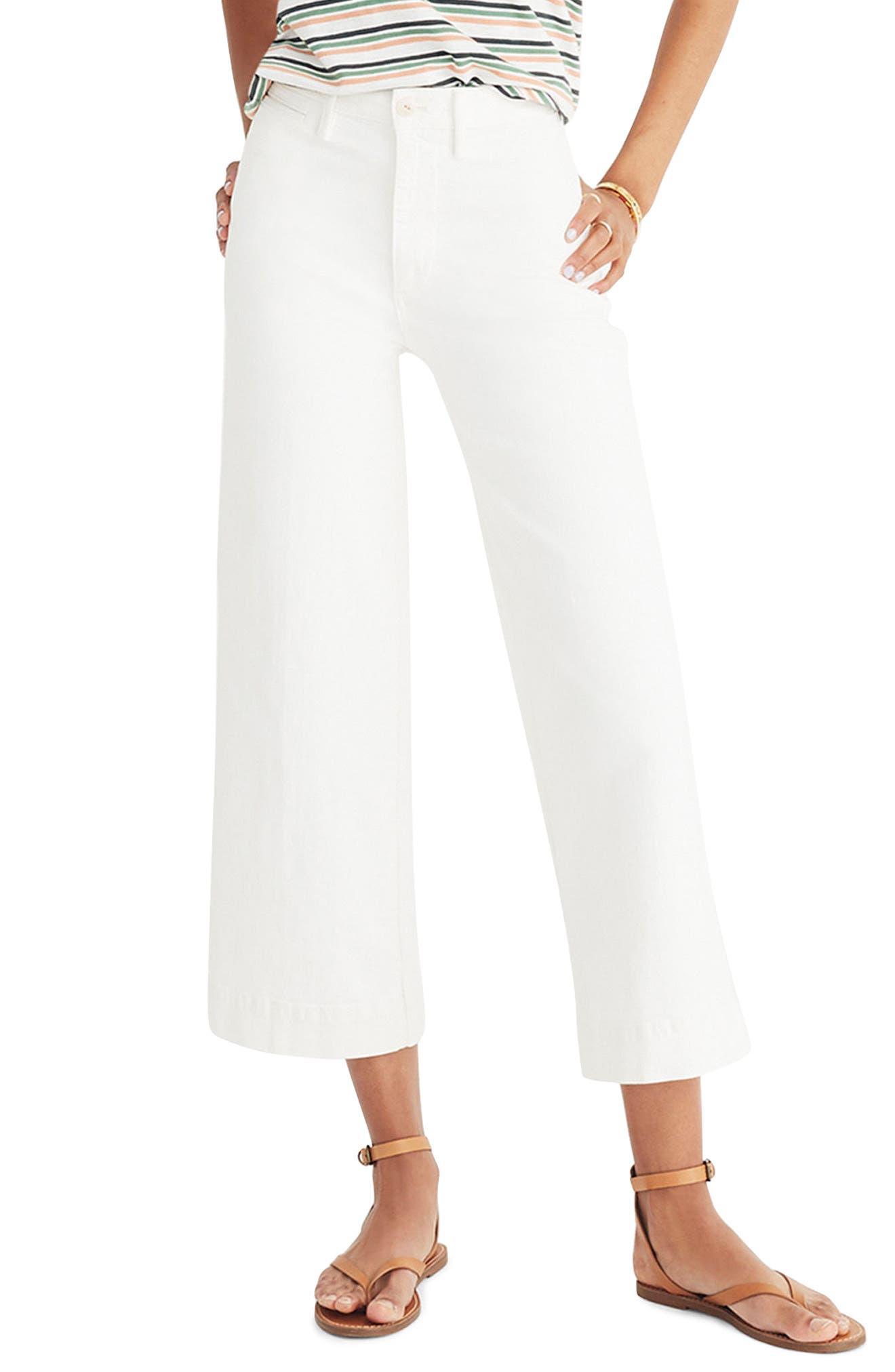 Emmett Crop Wide Leg Jeans,                         Main,                         color, 100