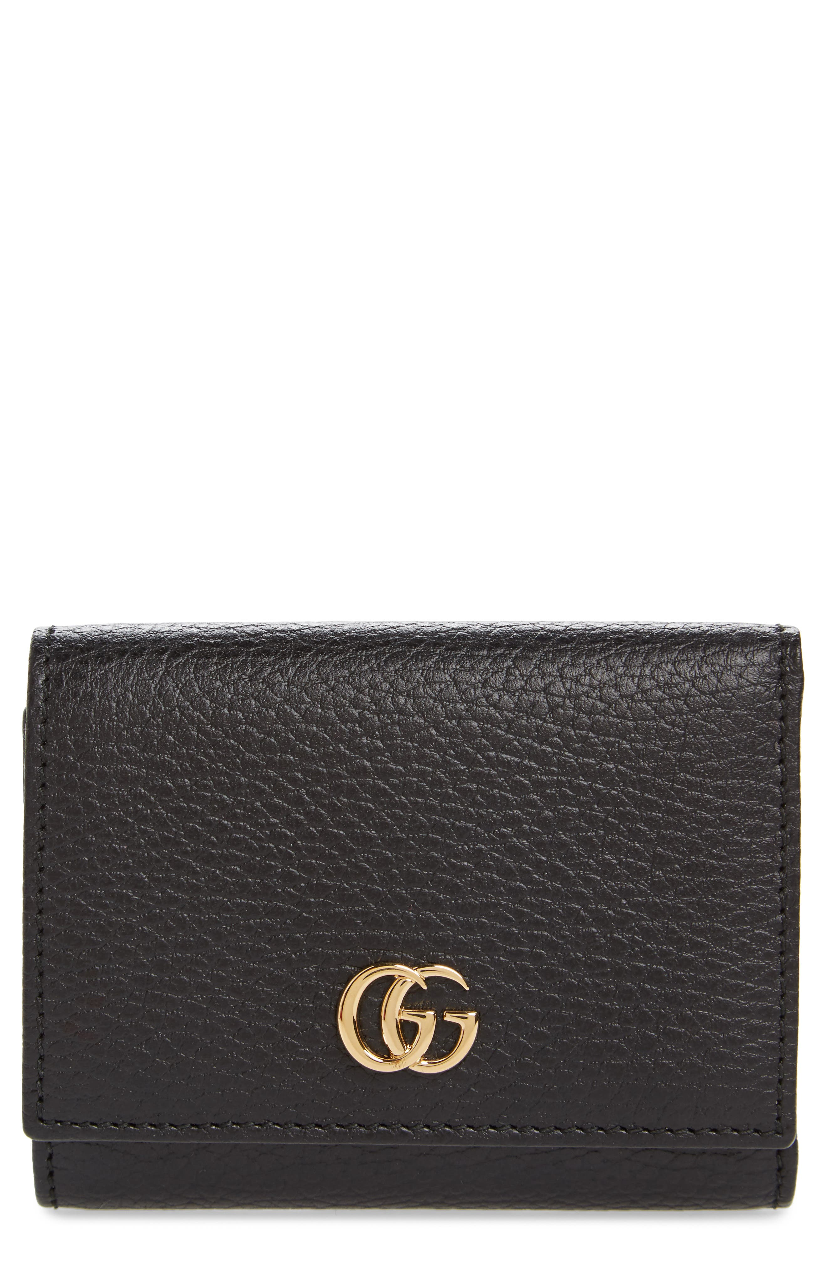 Petite Marmont Leather French Wallet,                         Main,                         color,