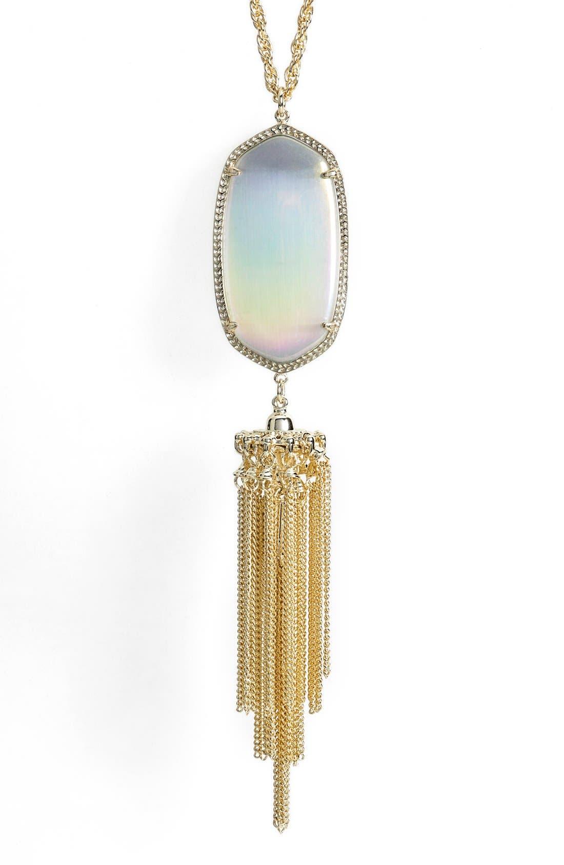 Rayne Stone Tassel Pendant Necklace,                             Alternate thumbnail 112, color,