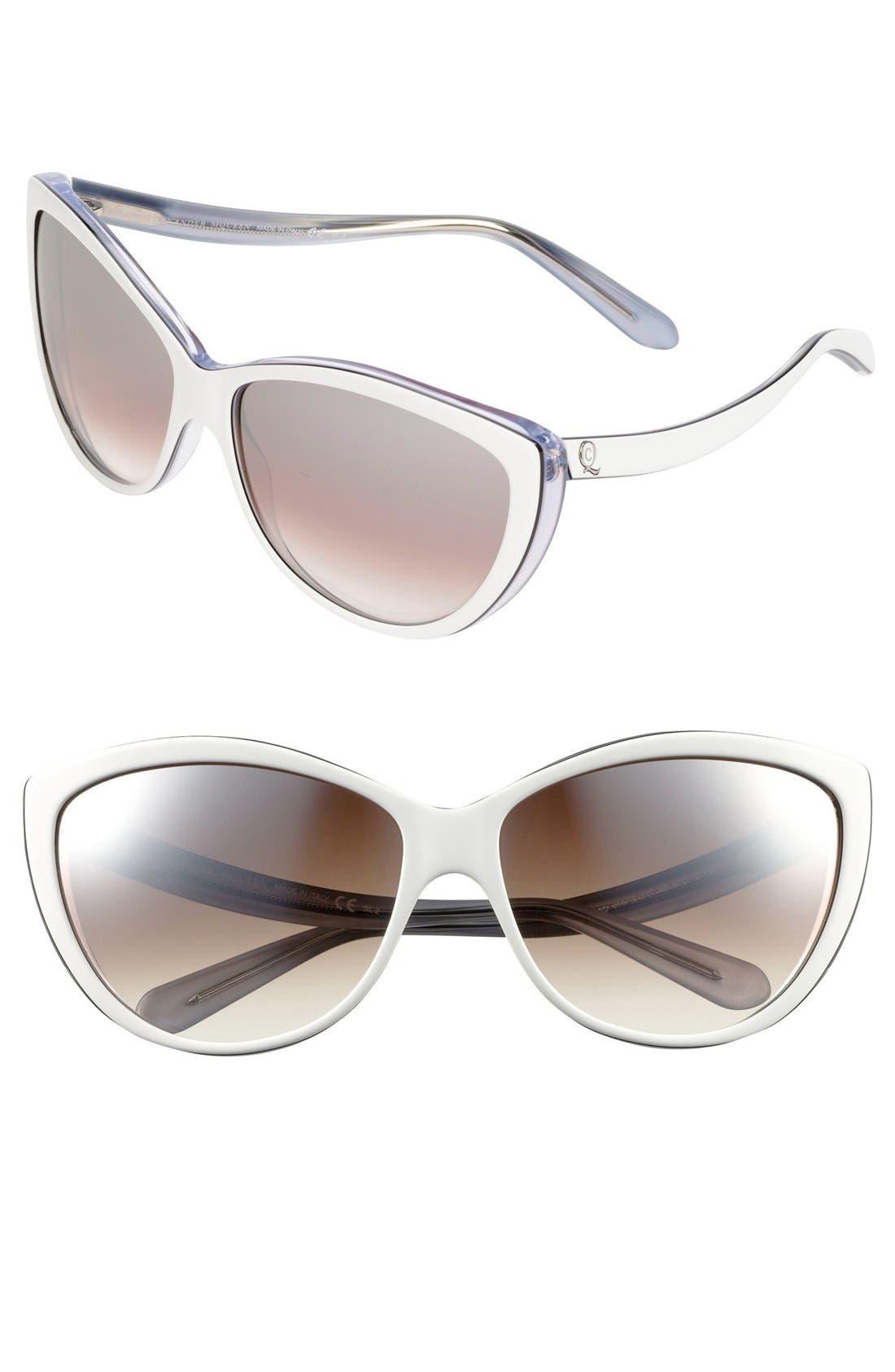 61mm Two-Tone Cat Eye Sunglasses,                             Main thumbnail 4, color,