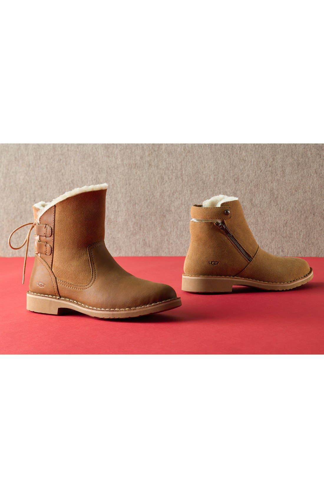Naiyah Lace-Back Genuine Shearling Boot,                             Alternate thumbnail 5, color,                             219