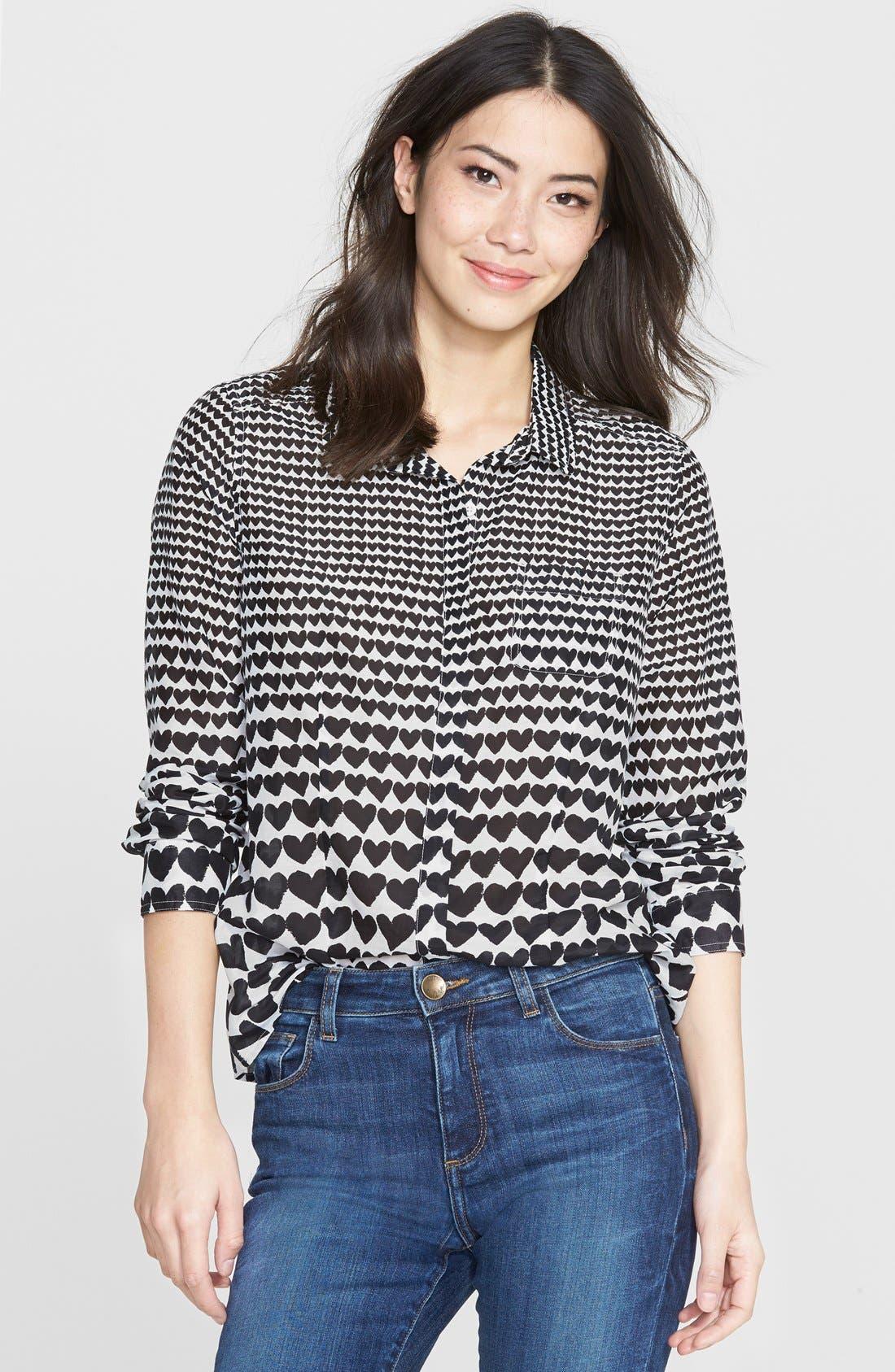 Cotton & Silk Shirt,                             Main thumbnail 2, color,