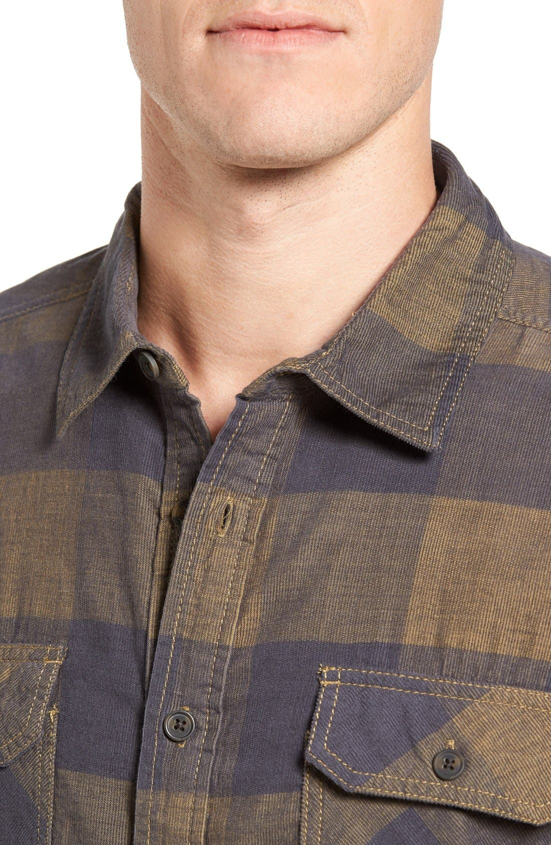 Knock on My Door Regular Fit Check Corduroy Shirt,                             Alternate thumbnail 13, color,