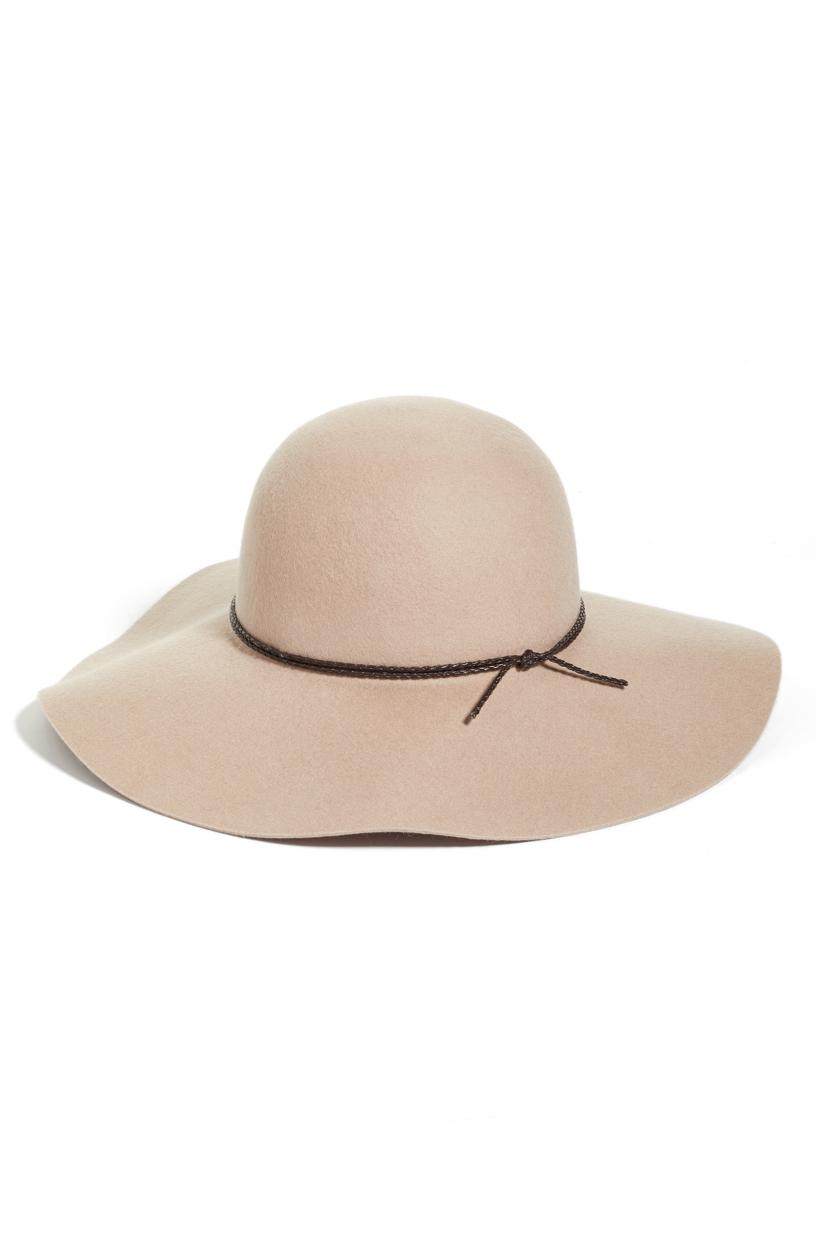 Wool Floppy Hat,                             Main thumbnail 4, color,