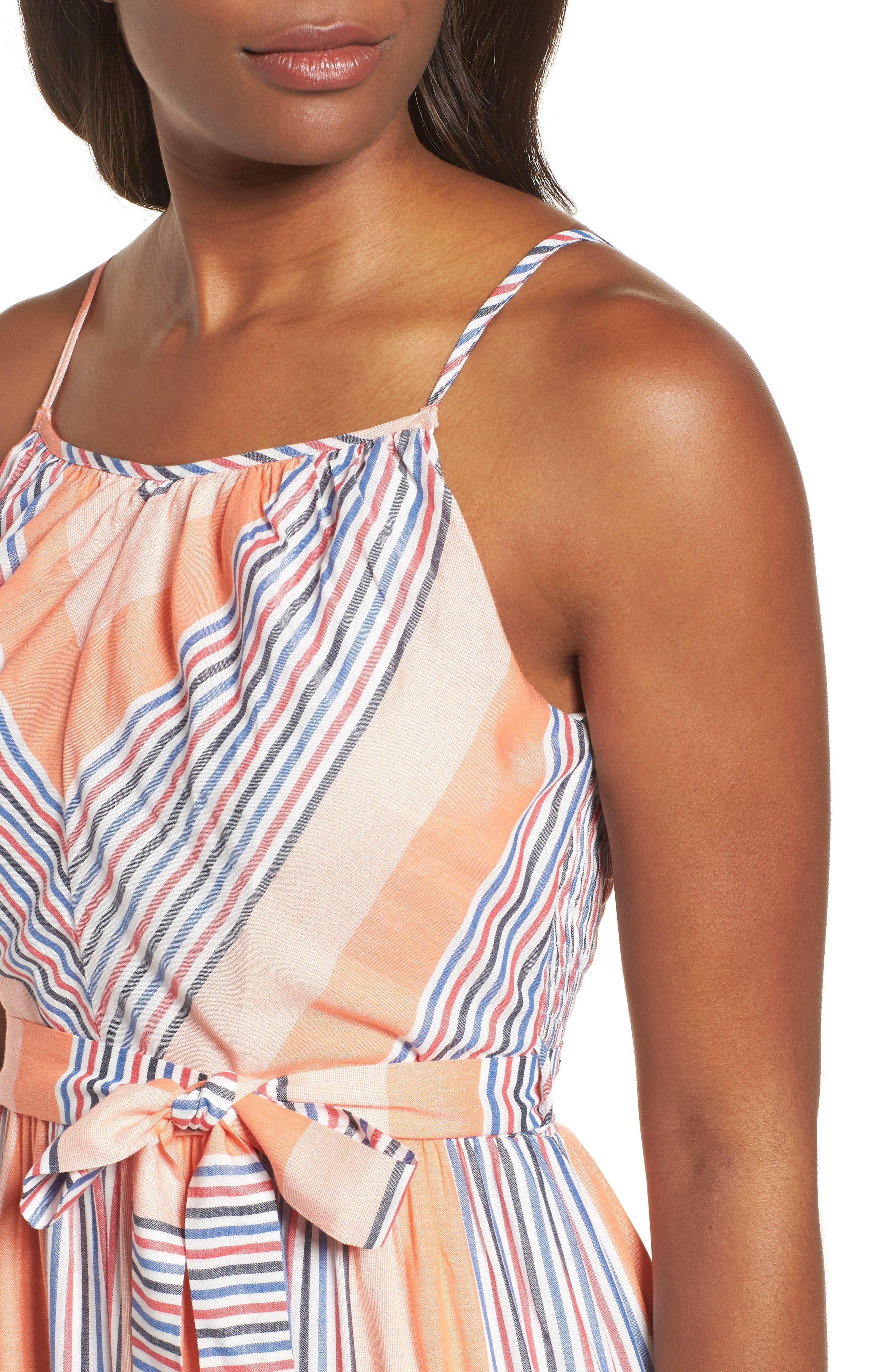 Tie Waist Cotton Maxi Dress,                             Alternate thumbnail 17, color,