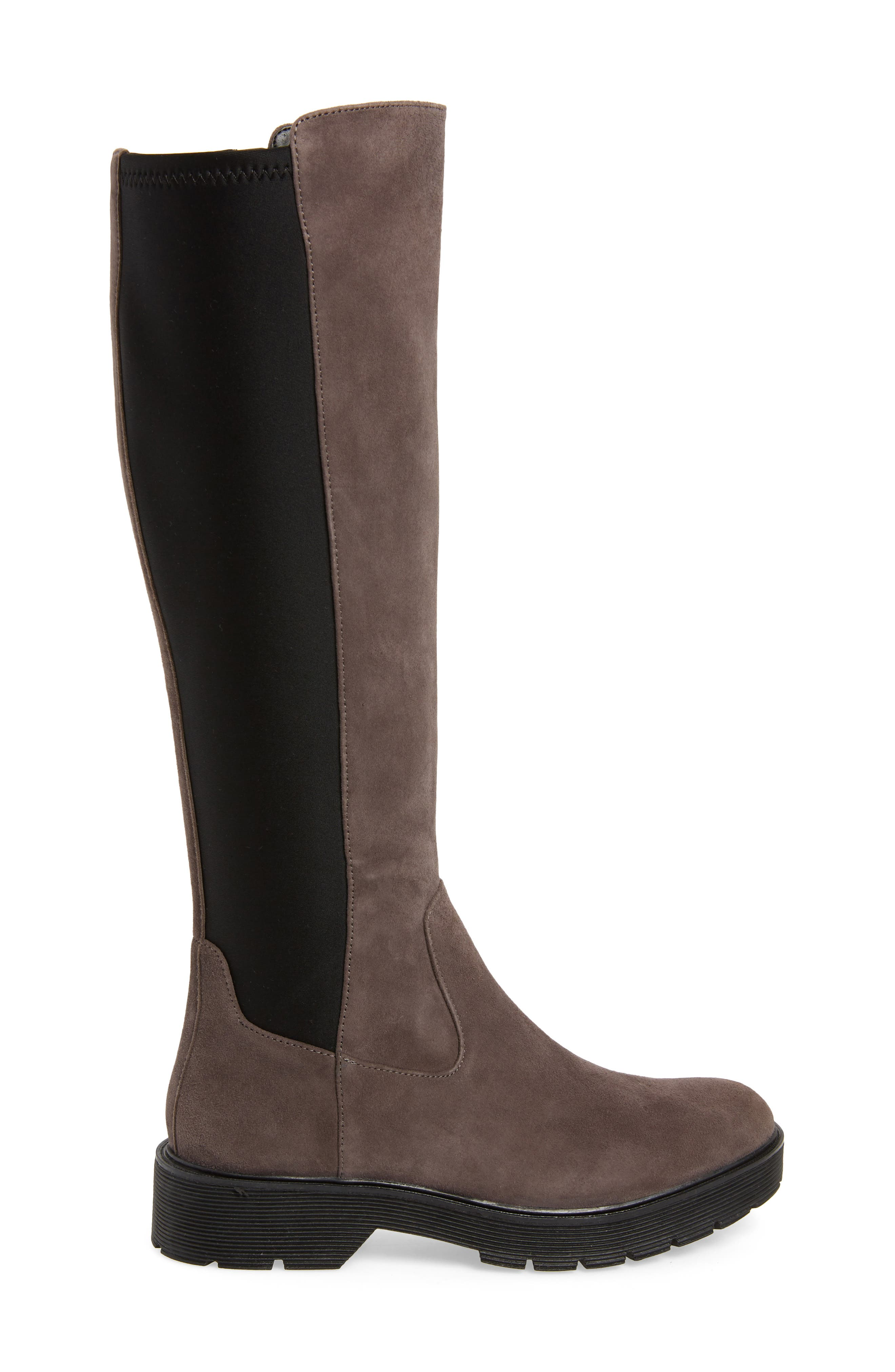 Themis Knee High Riding Boot,                             Alternate thumbnail 3, color,                             DARK UTILITY/ BLACK SUEDE