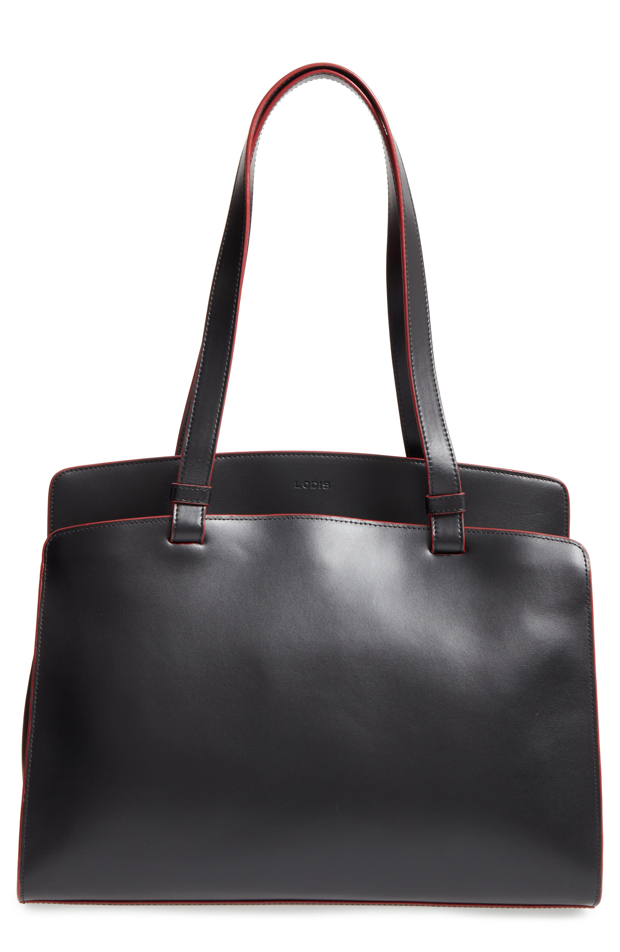 Lodis Audrey Collection - Jana Leather Tote,                             Main thumbnail 1, color,                             001