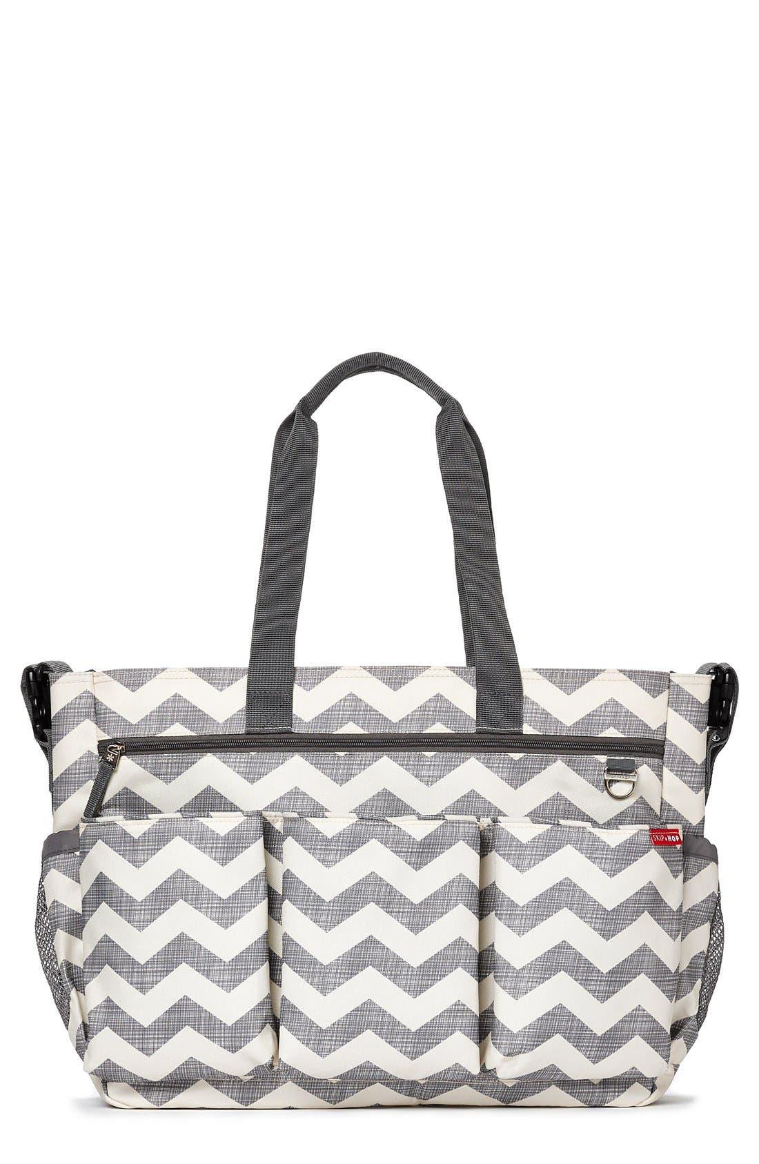 'Duo Double Signature' Diaper Bag,                             Main thumbnail 1, color,                             020
