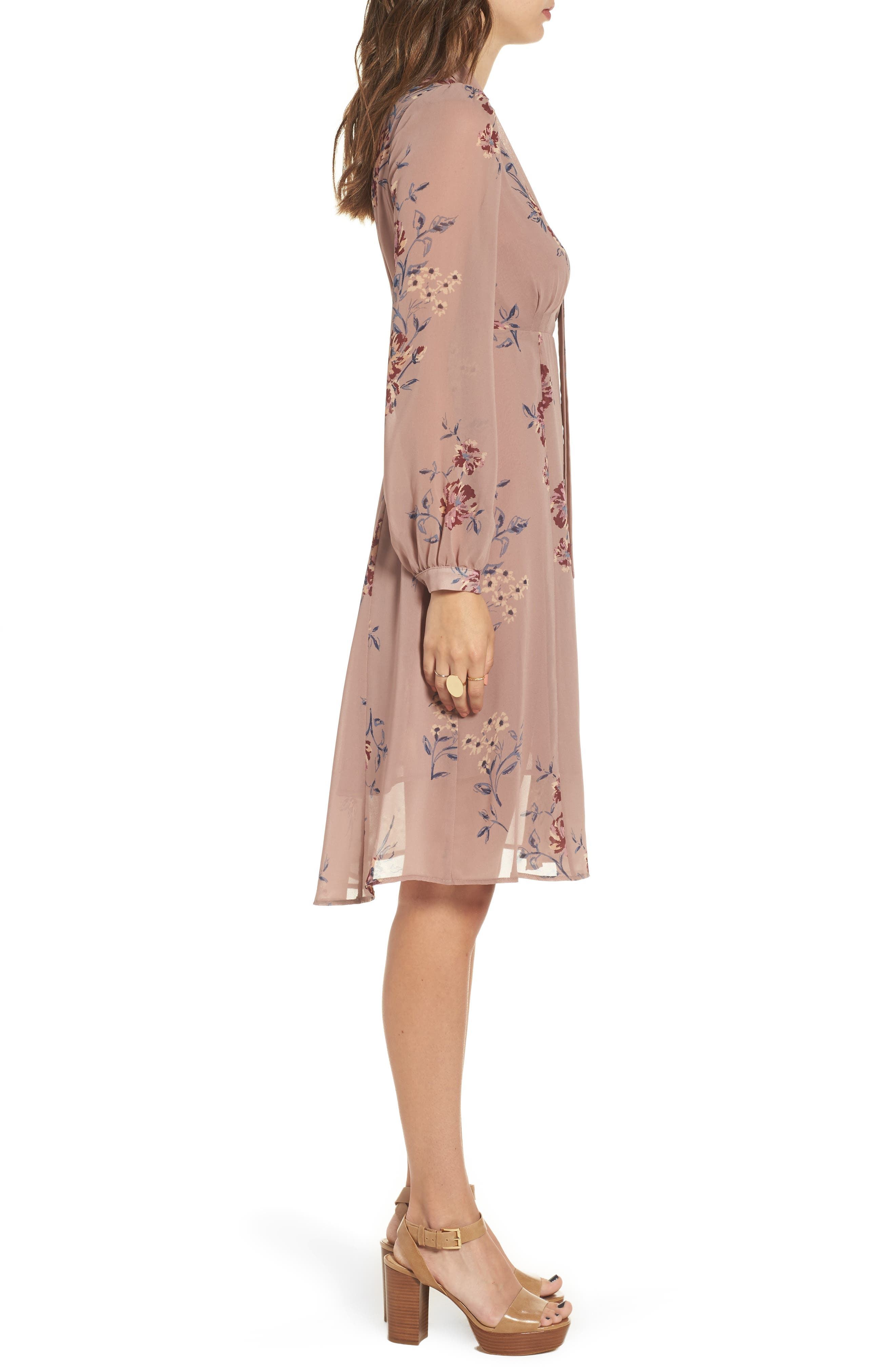 Tyra A-Line Dress,                             Alternate thumbnail 6, color,