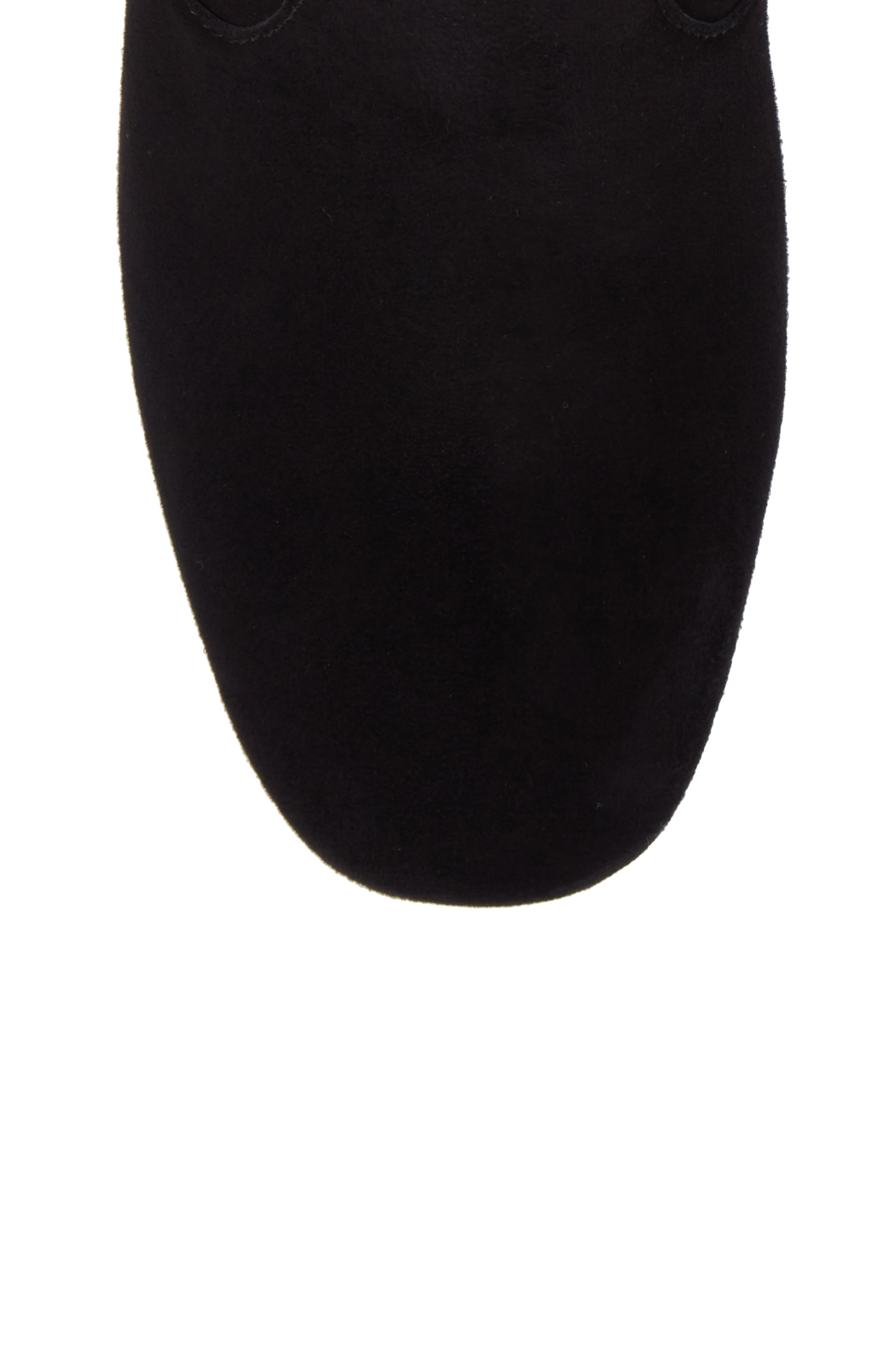 Charlize Boot,                             Alternate thumbnail 5, color,                             BLACK SUEDE