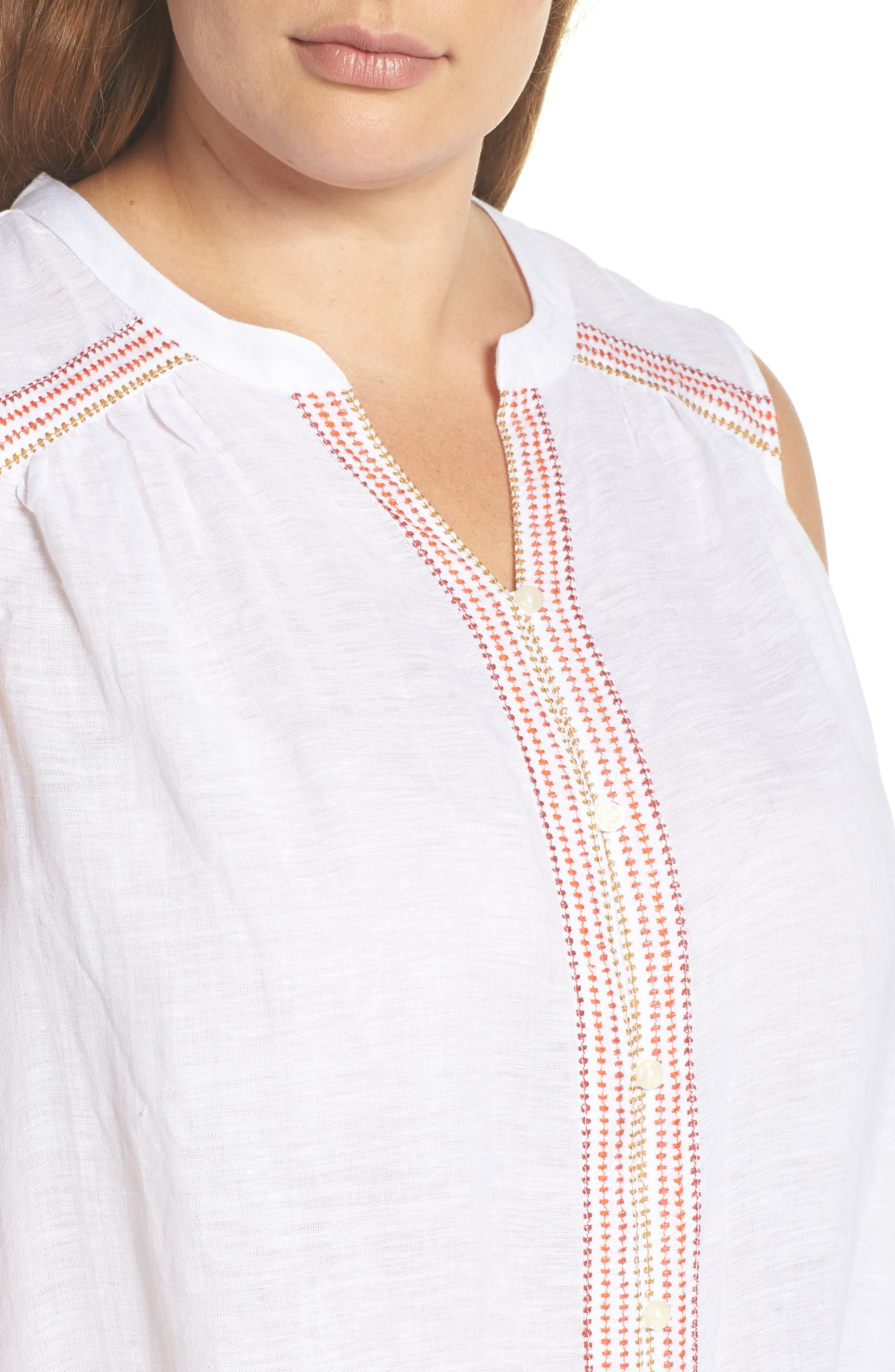 Embroidered Tank,                             Alternate thumbnail 4, color,                             001
