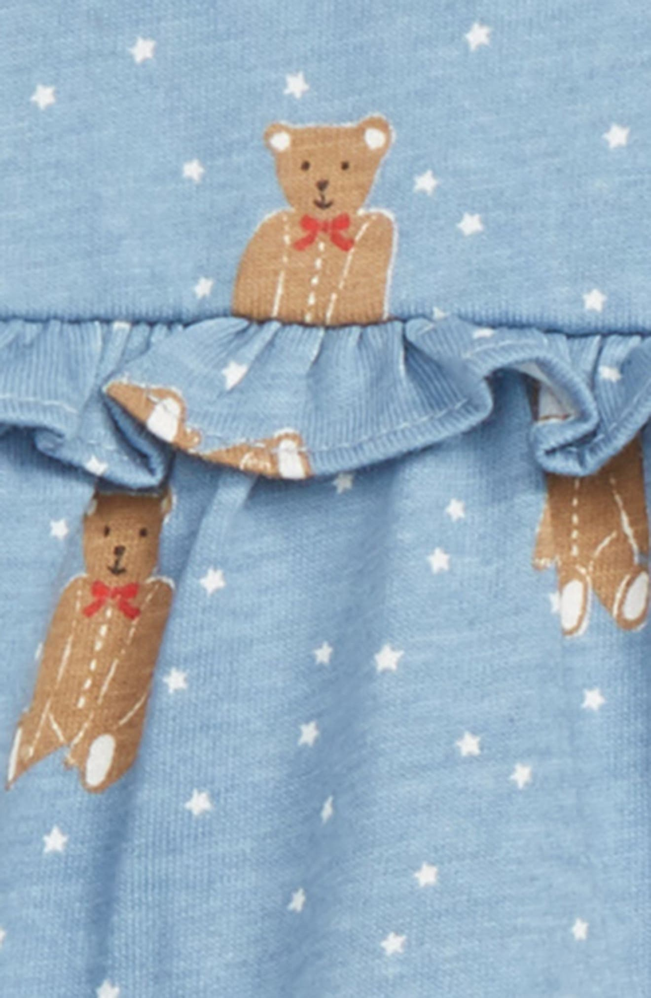 MINI BODEN,                             Boathouse Blue Baby Bars Tunic & Leggings Set,                             Alternate thumbnail 2, color,                             400