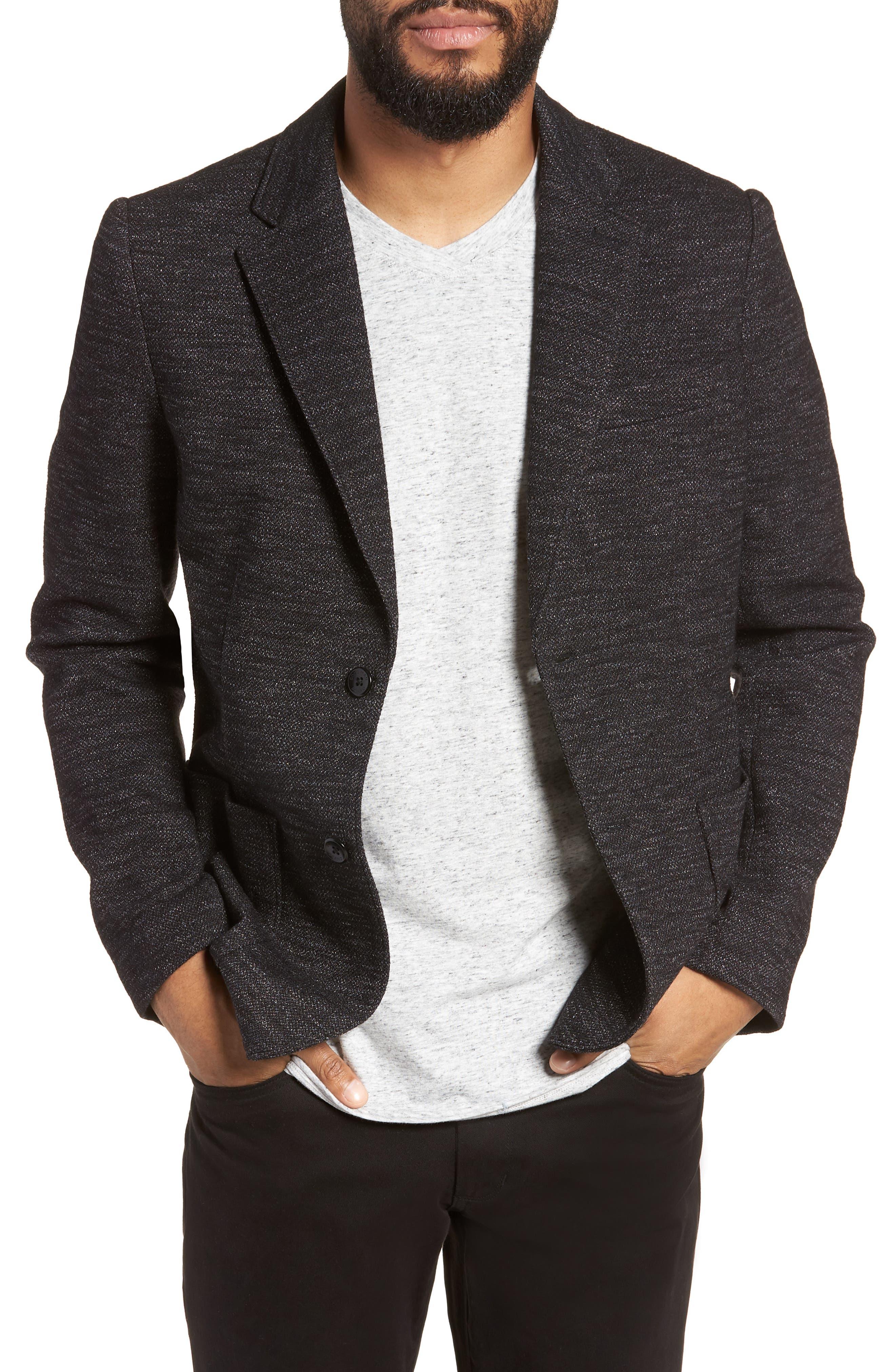 Slim Fit Soft Blazer,                         Main,                         color, 001