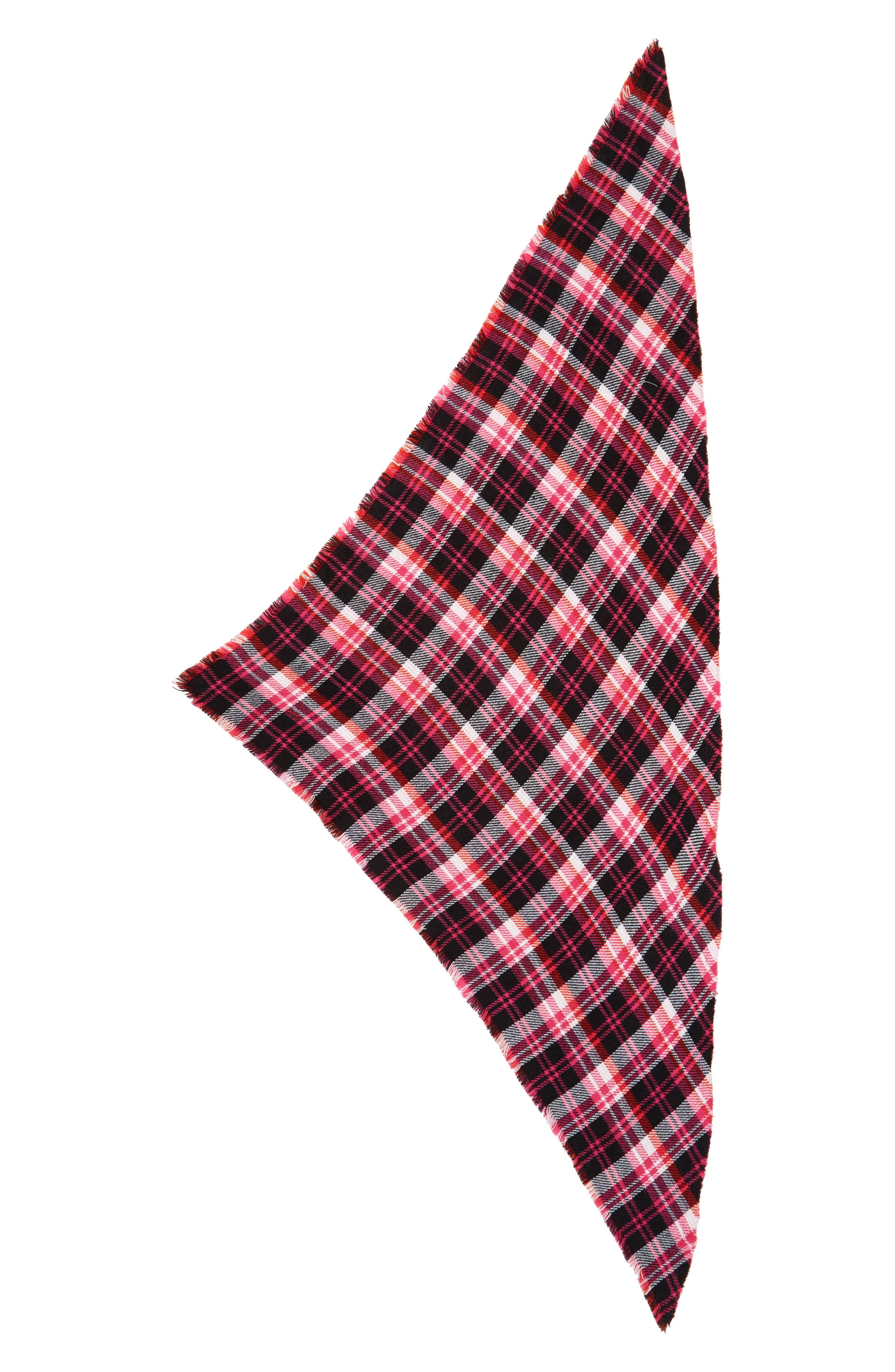 Reversible Plaid Triangle Scarf,                             Alternate thumbnail 2, color,                             651