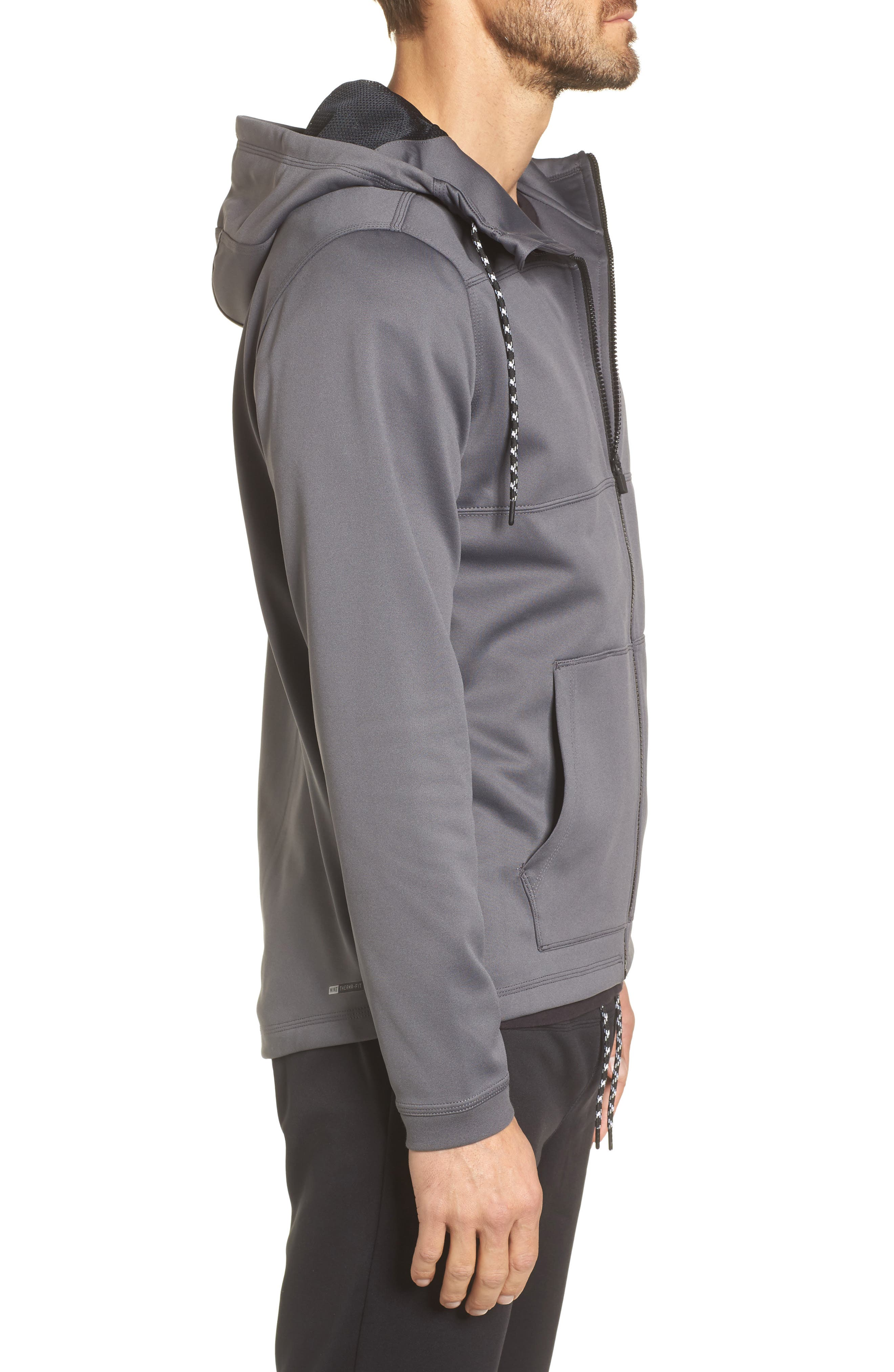 Therma Protect Zip Hoodie,                             Alternate thumbnail 8, color,