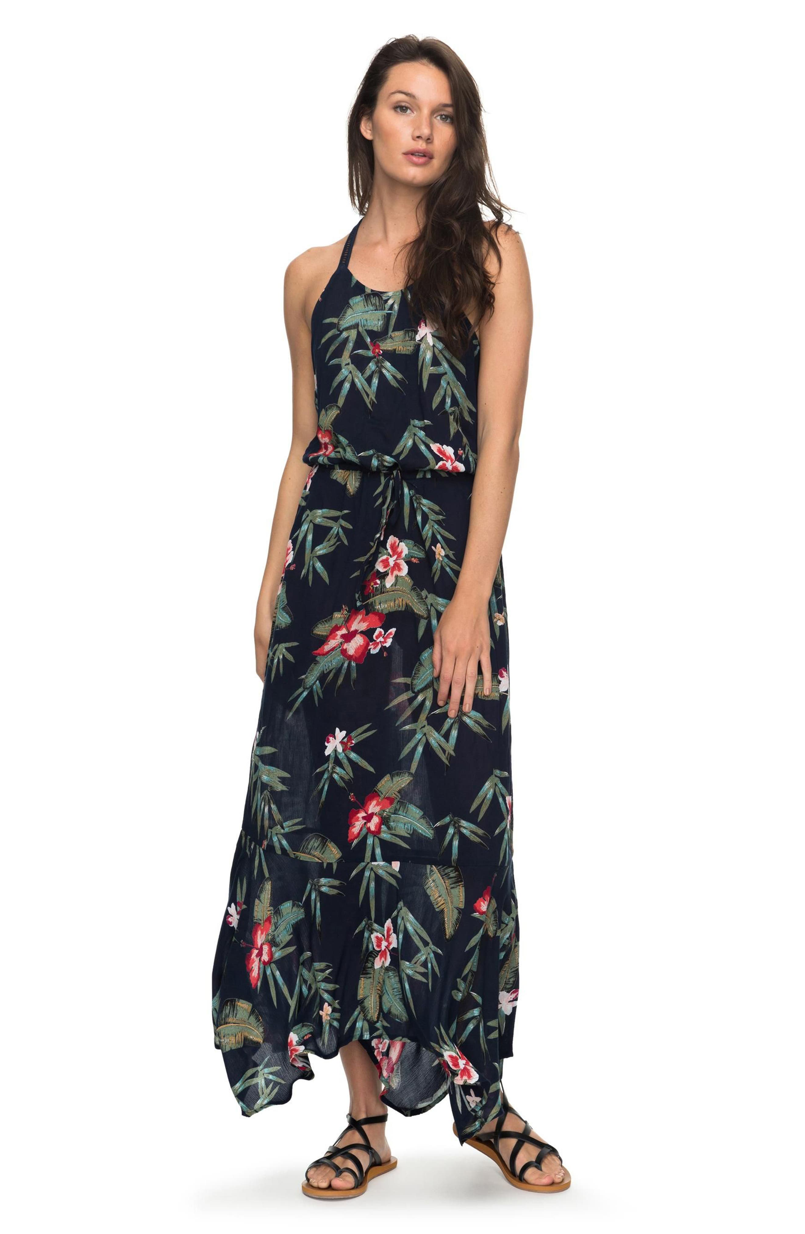 Groove the Physical Floral Maxi Dress,                             Alternate thumbnail 3, color,
