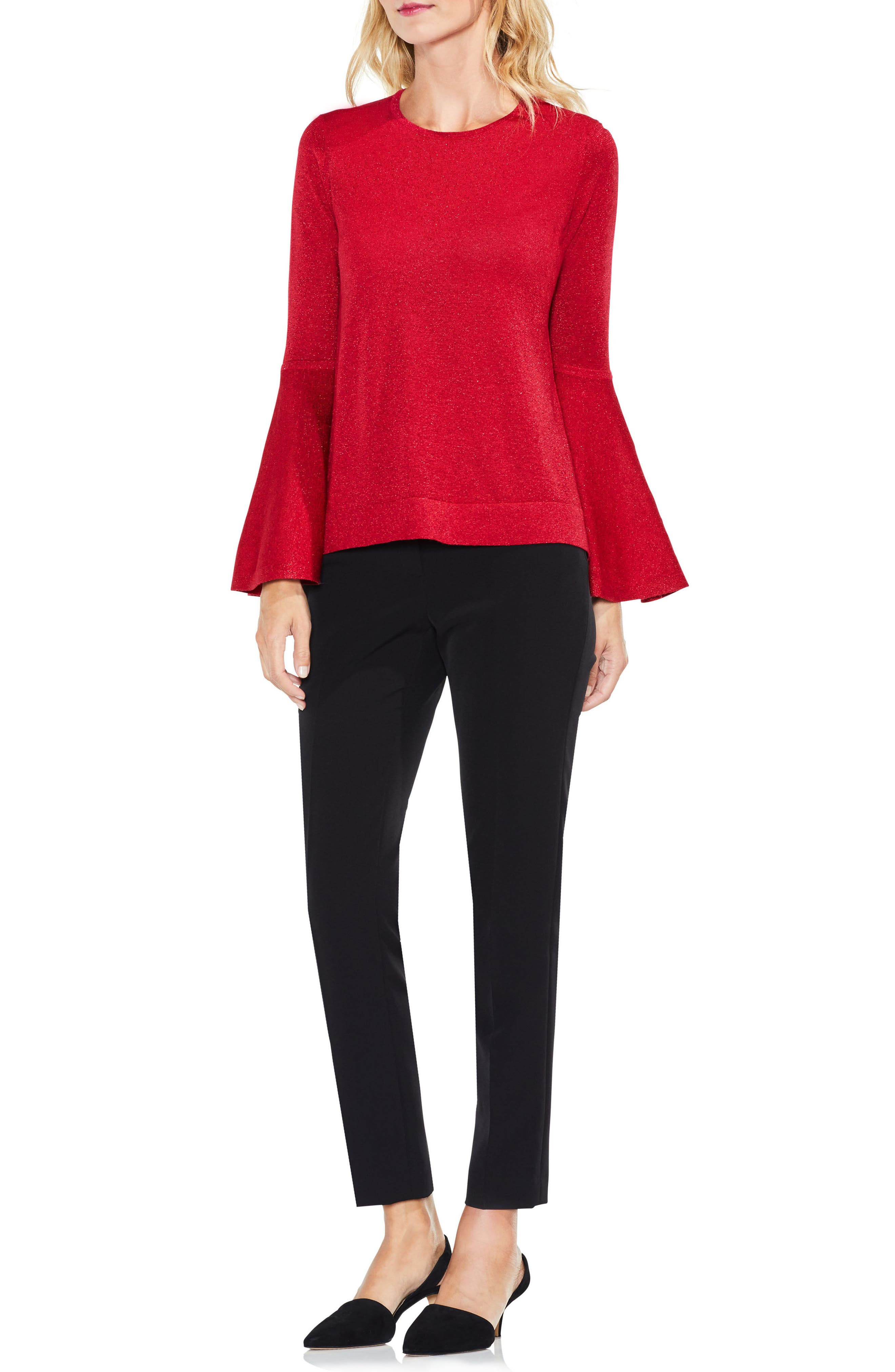 Bell Sleeve Sweater,                             Alternate thumbnail 16, color,