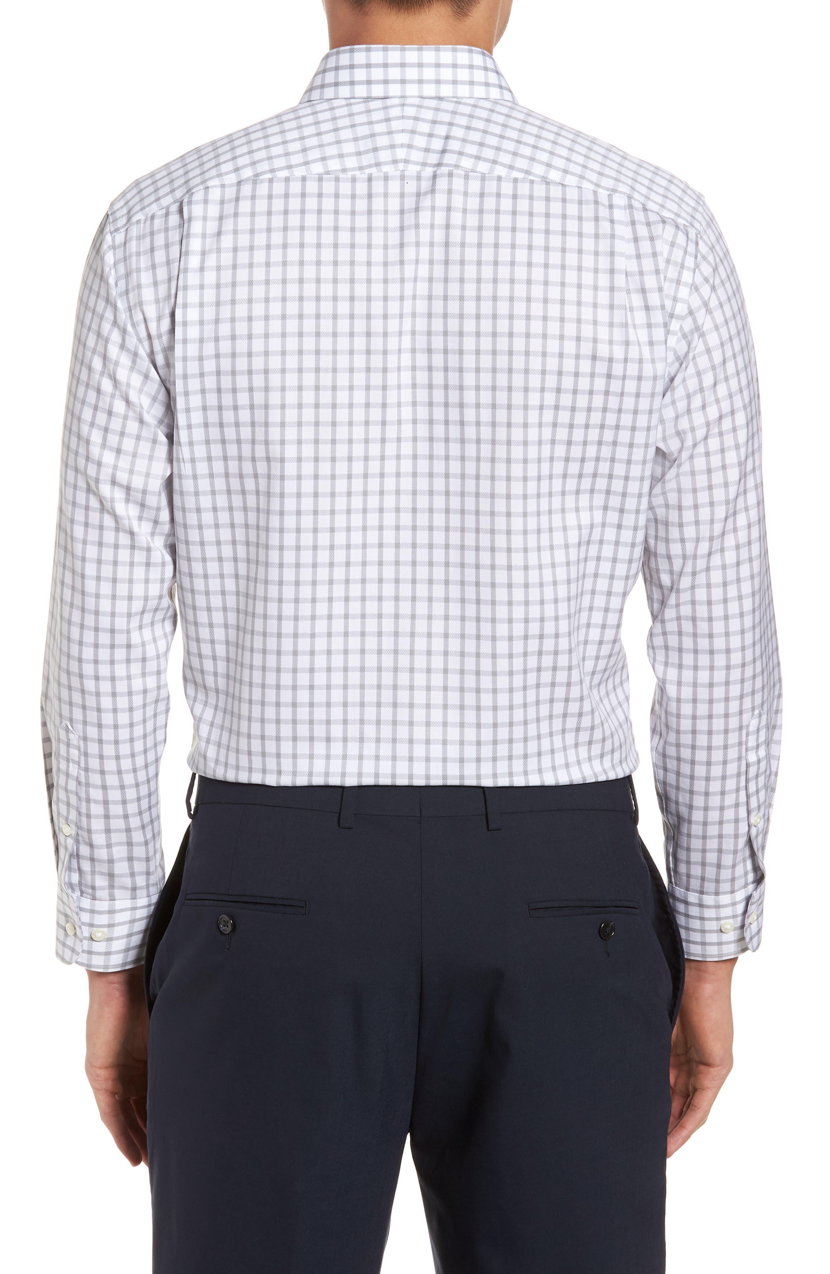 Smartcare<sup>™</sup> Trim Fit Check Dress Shirt,                             Alternate thumbnail 3, color,                             050