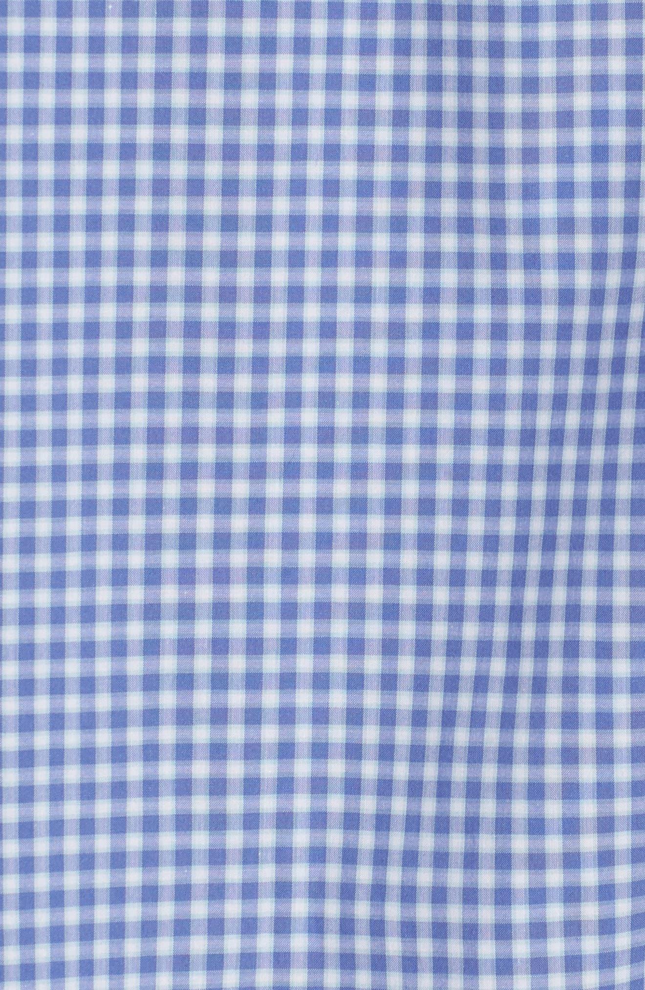 Giovinco Plaid Sport Shirt,                             Alternate thumbnail 5, color,                             OCEAN