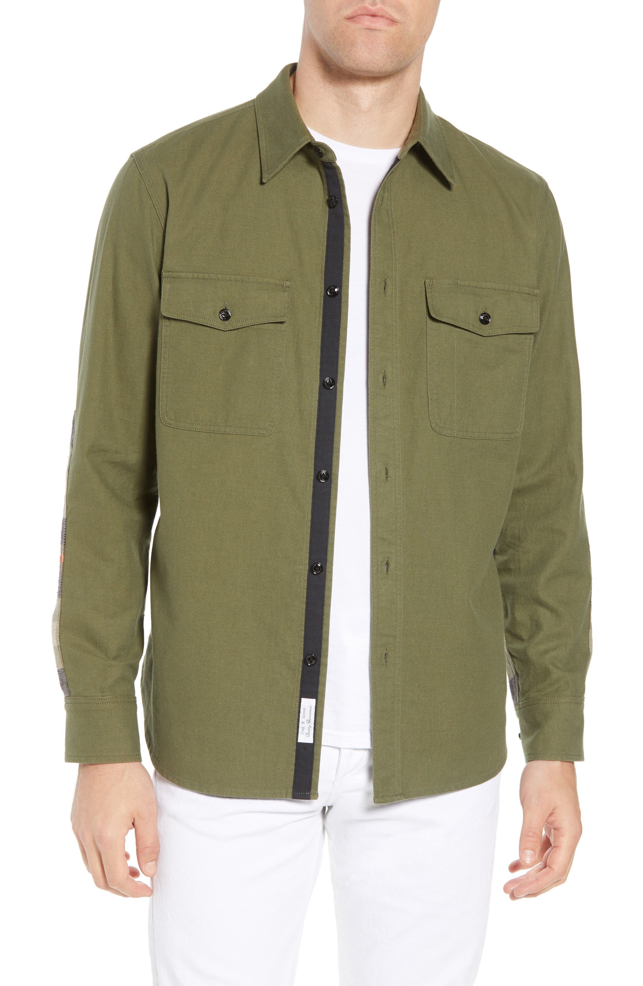 rag + bone Jack Slim Fit Plaid Sport Shirt,                         Main,                         color, 315