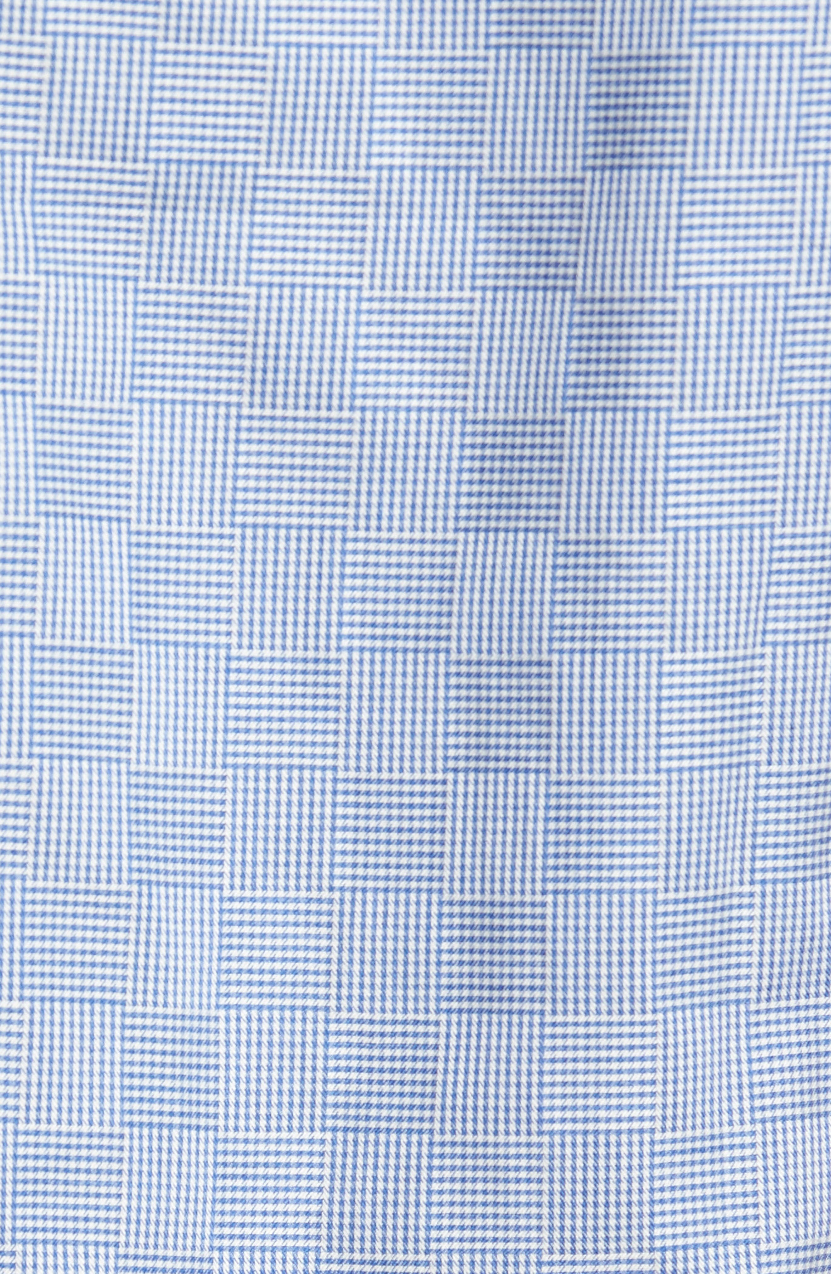 Shaped Fit Houndstooth Check Sport Shirt,                             Alternate thumbnail 5, color,                             420