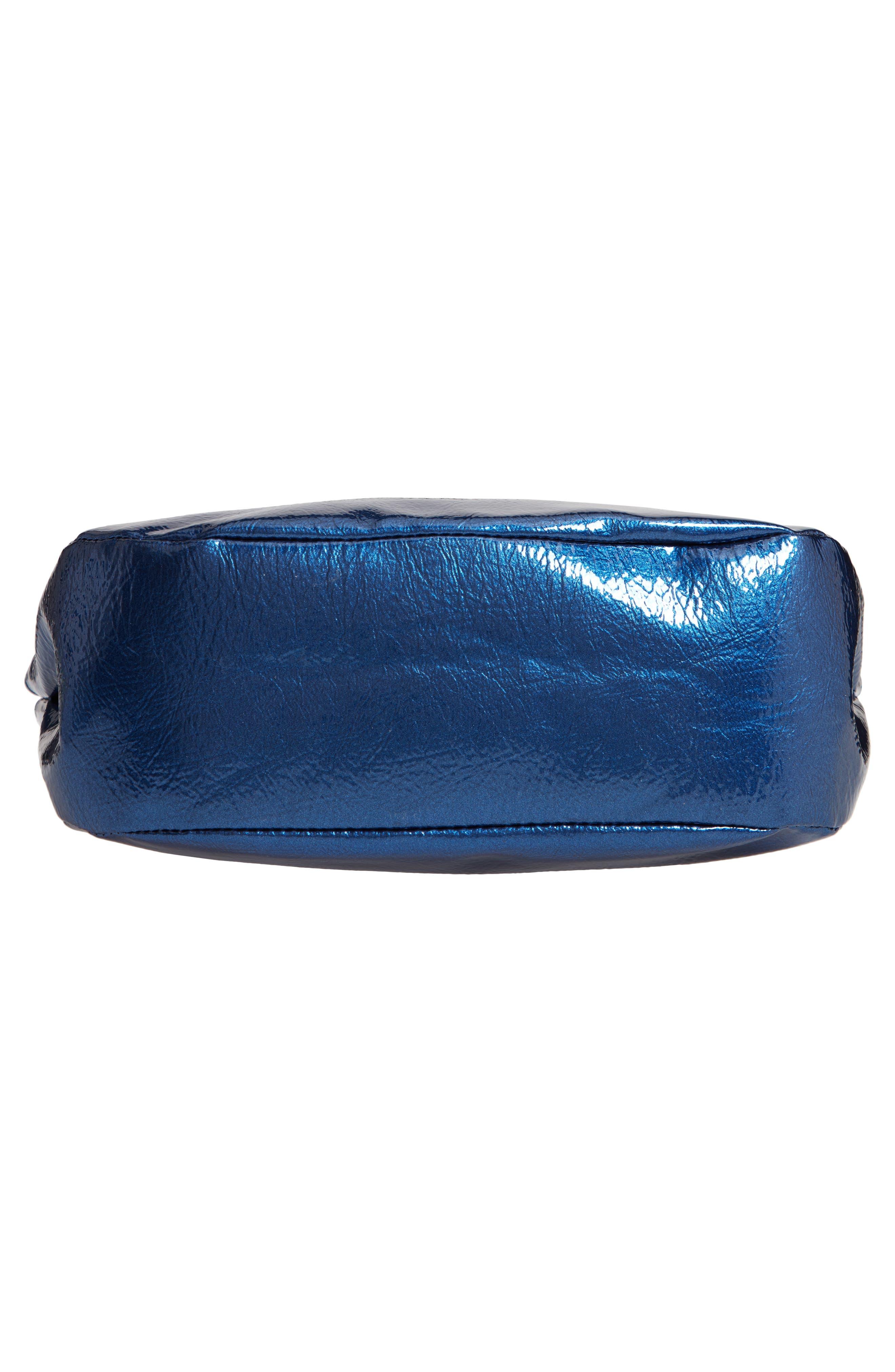 Patent Leather Crossbody Bag,                             Alternate thumbnail 6, color,                             400