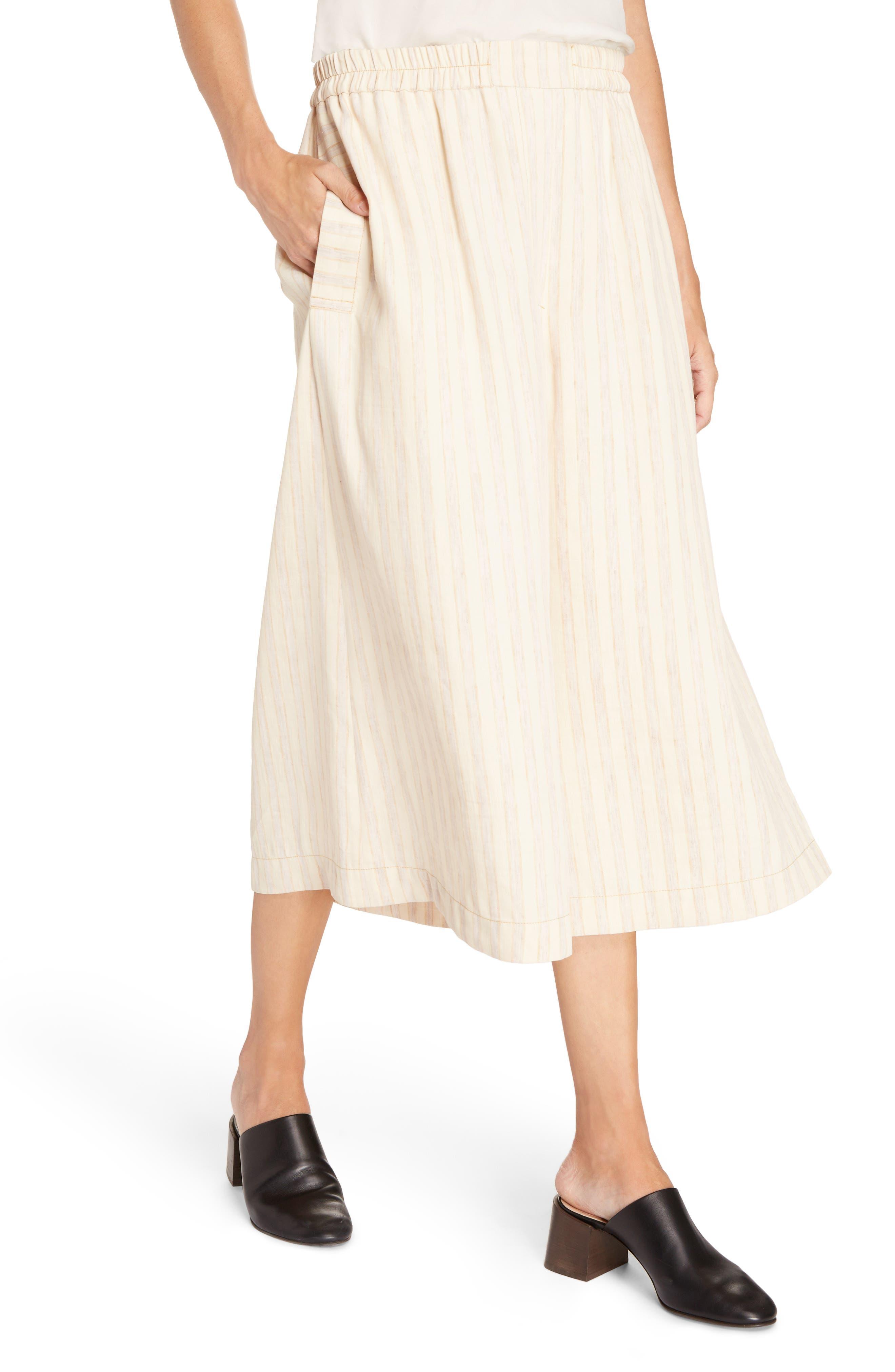 Michela Linen Blend Culottes,                             Alternate thumbnail 4, color,                             250