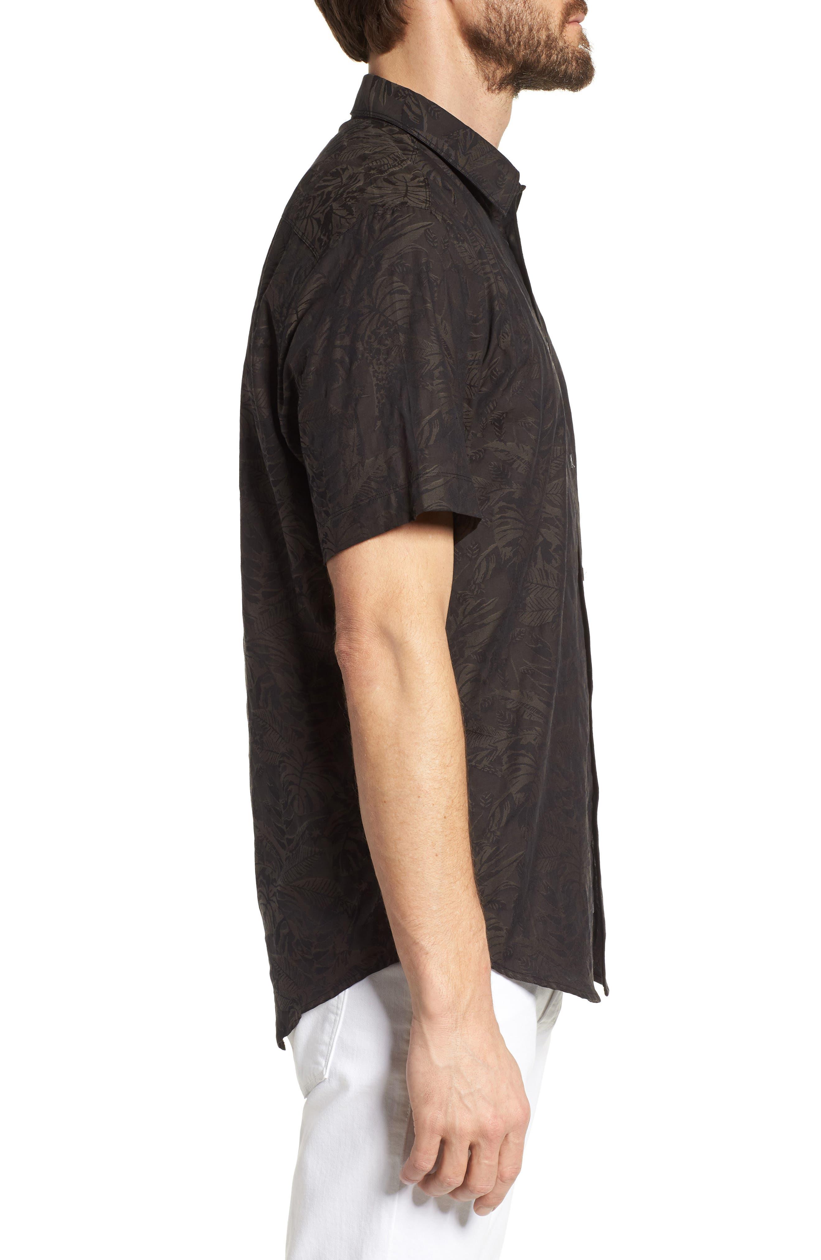 Princeville Regular Fit Print Short Sleeve Sport Shirt,                             Alternate thumbnail 3, color,                             011