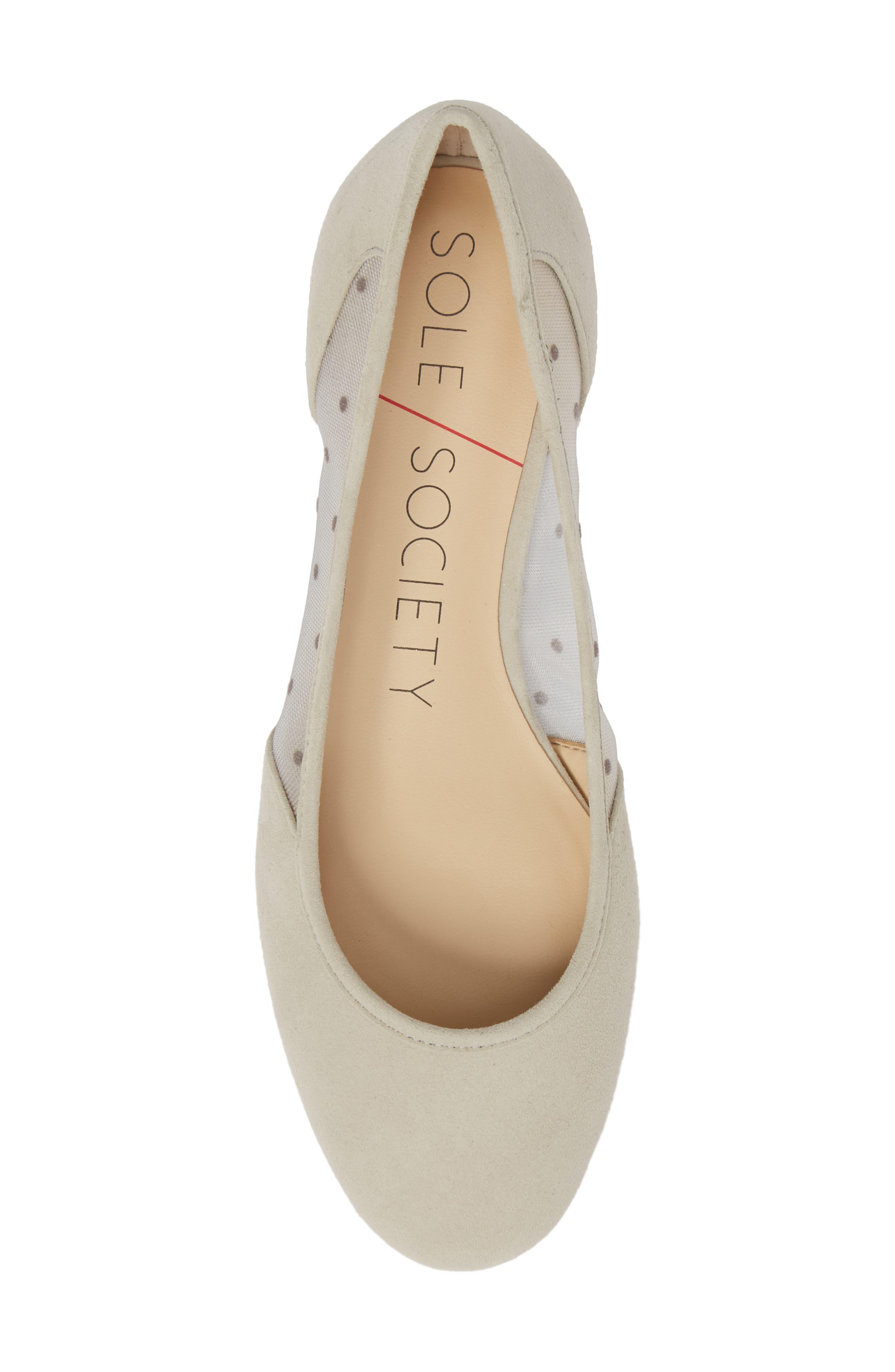 Pammy Ballet Flat,                             Alternate thumbnail 5, color,                             DOVE GREY
