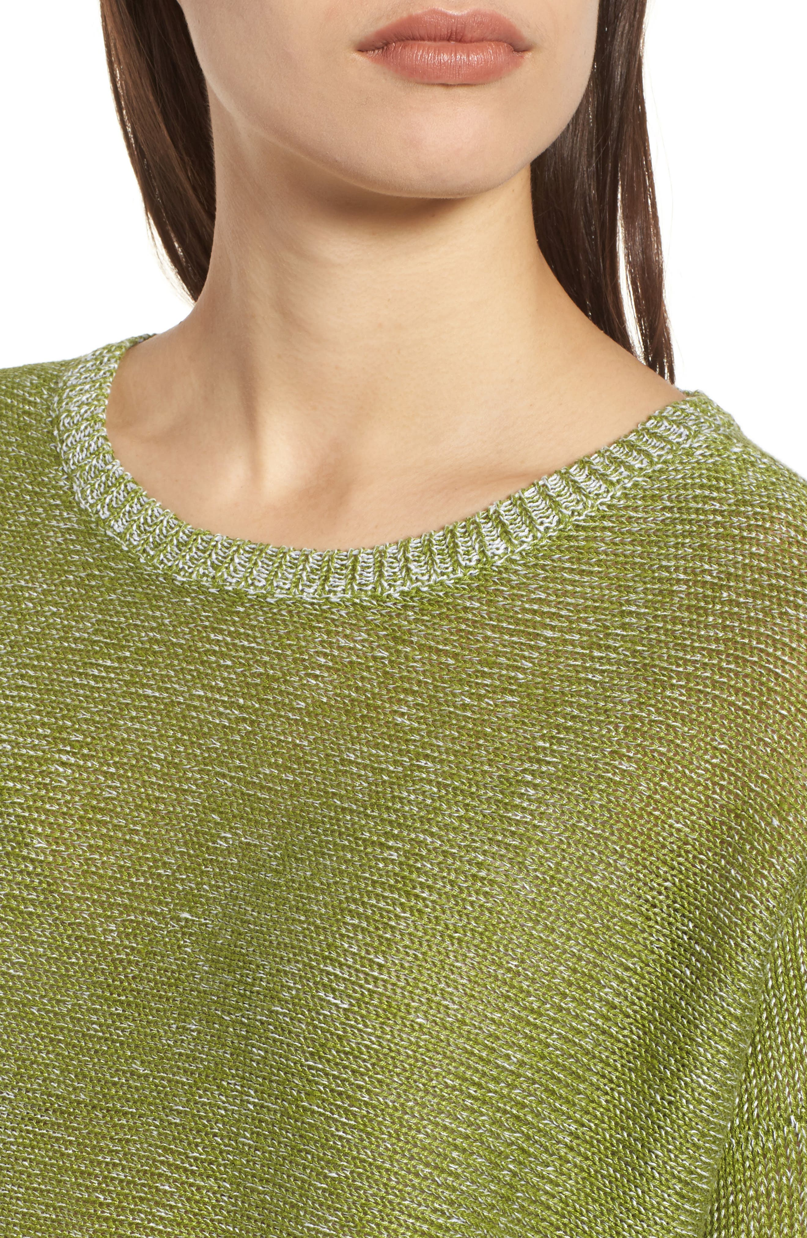Boxy Organic Linen Sweater,                             Alternate thumbnail 4, color,                             308