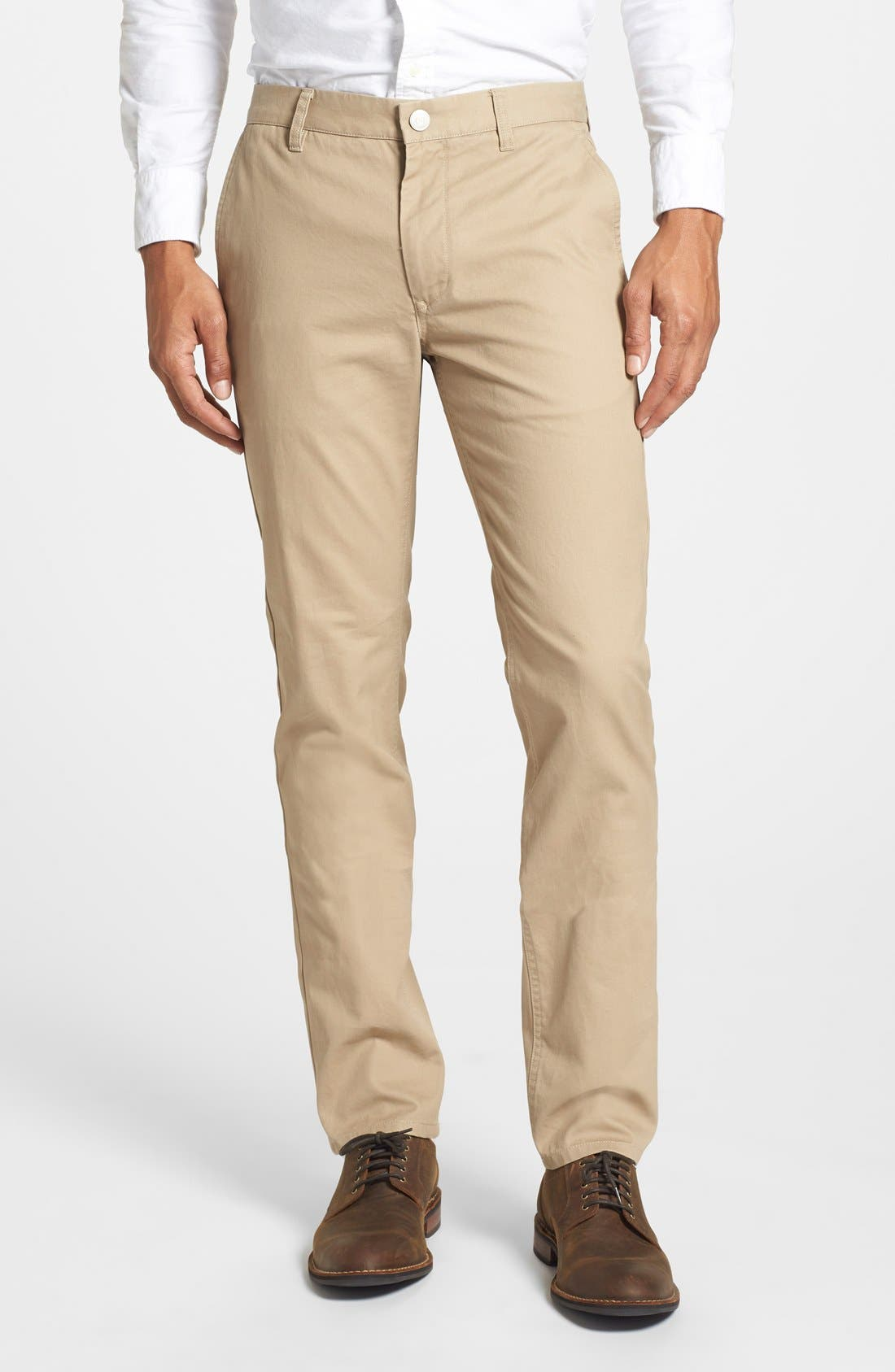 Tailored Fit Washed Chinos,                         Main,                         color, 250
