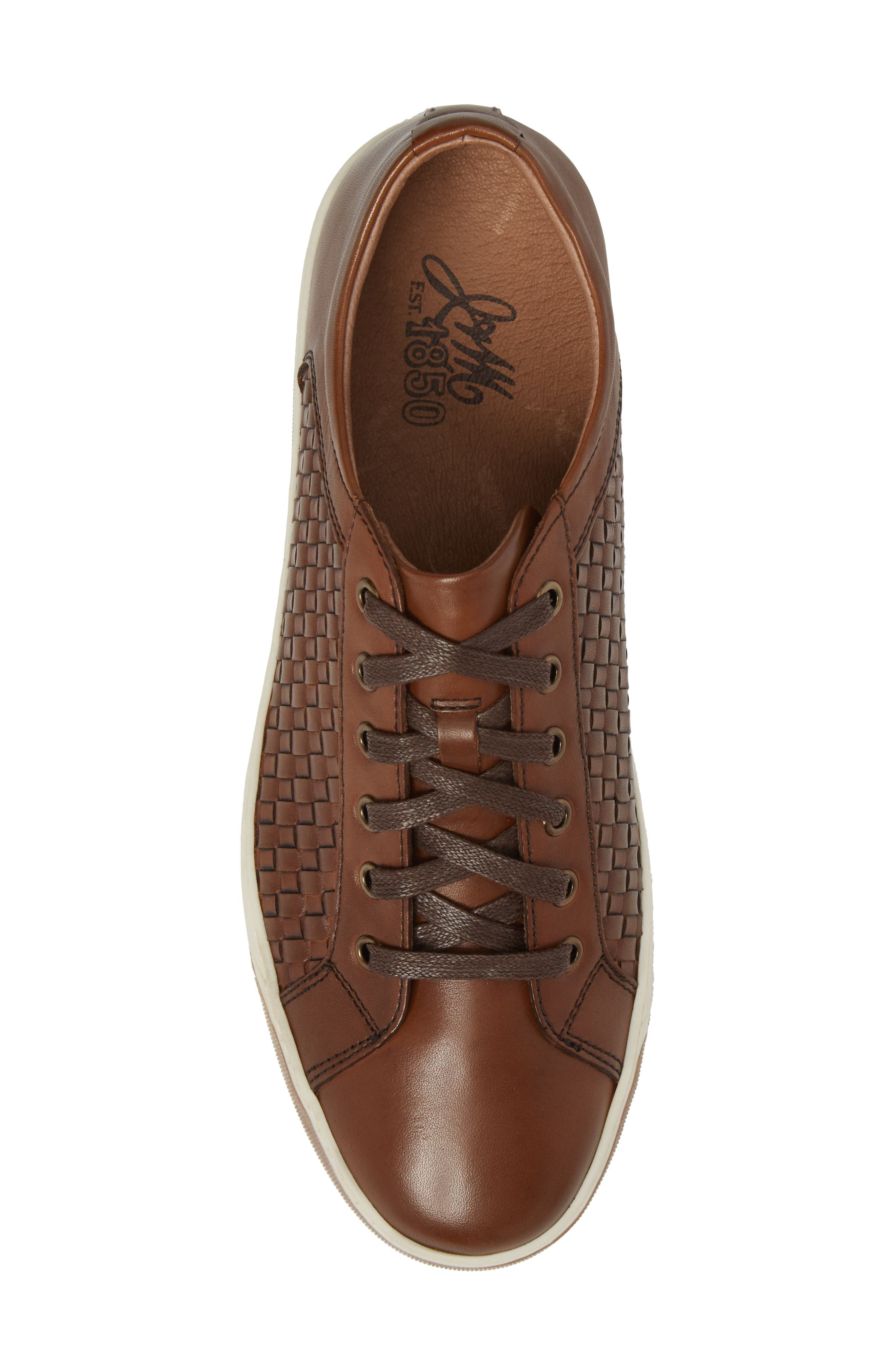 Allister Woven Low Top Sneaker,                             Alternate thumbnail 5, color,                             BROWN